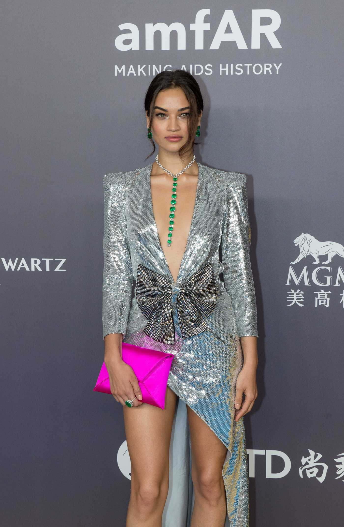 Shanina Shaik at amfAR Fundraising Gala in Hong Kong 03/26/2018