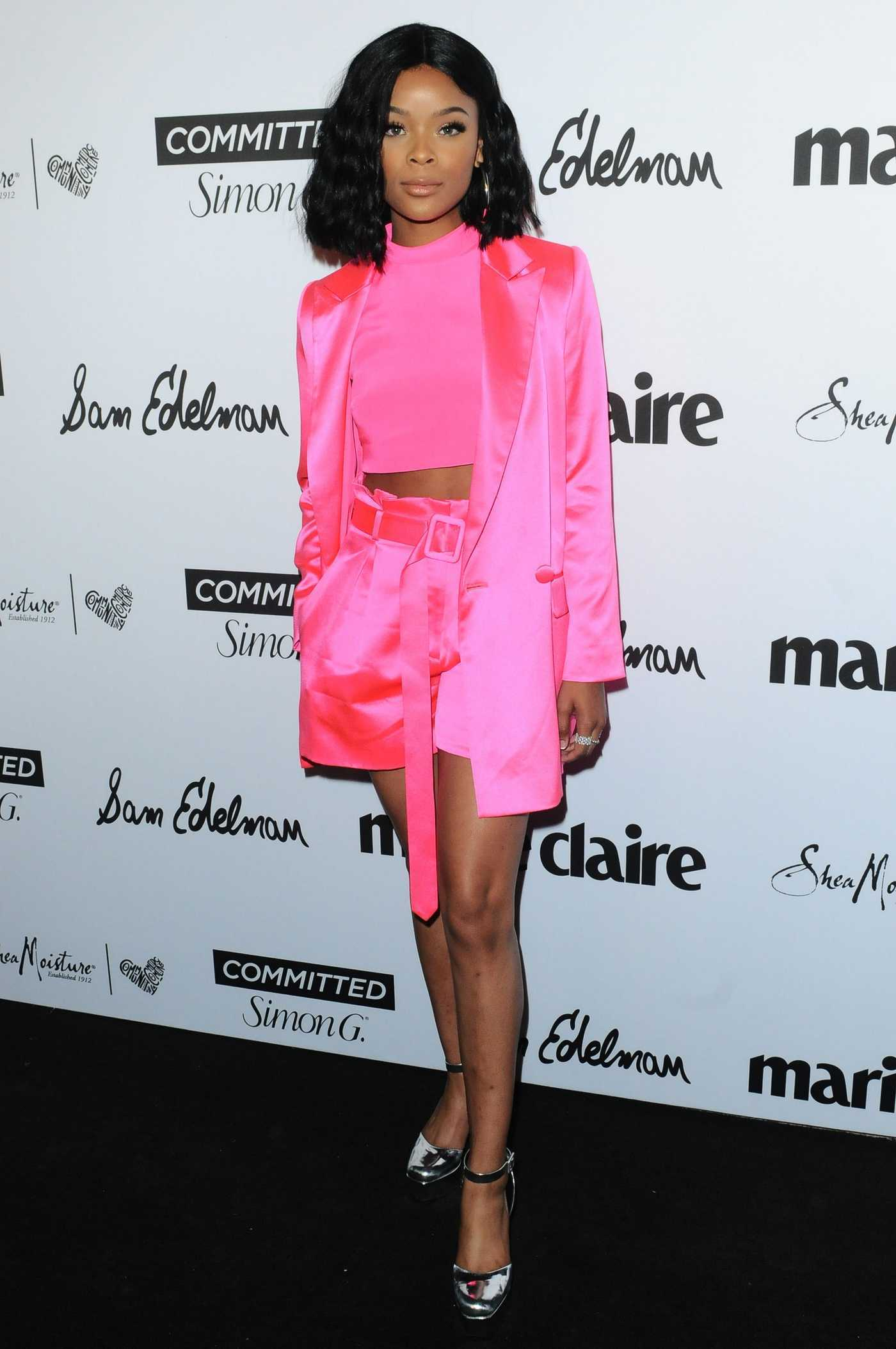 Ajiona Alexus at the 5th Annual Marie Claire Fresh Faces Party in Los Angeles 04/27/2018