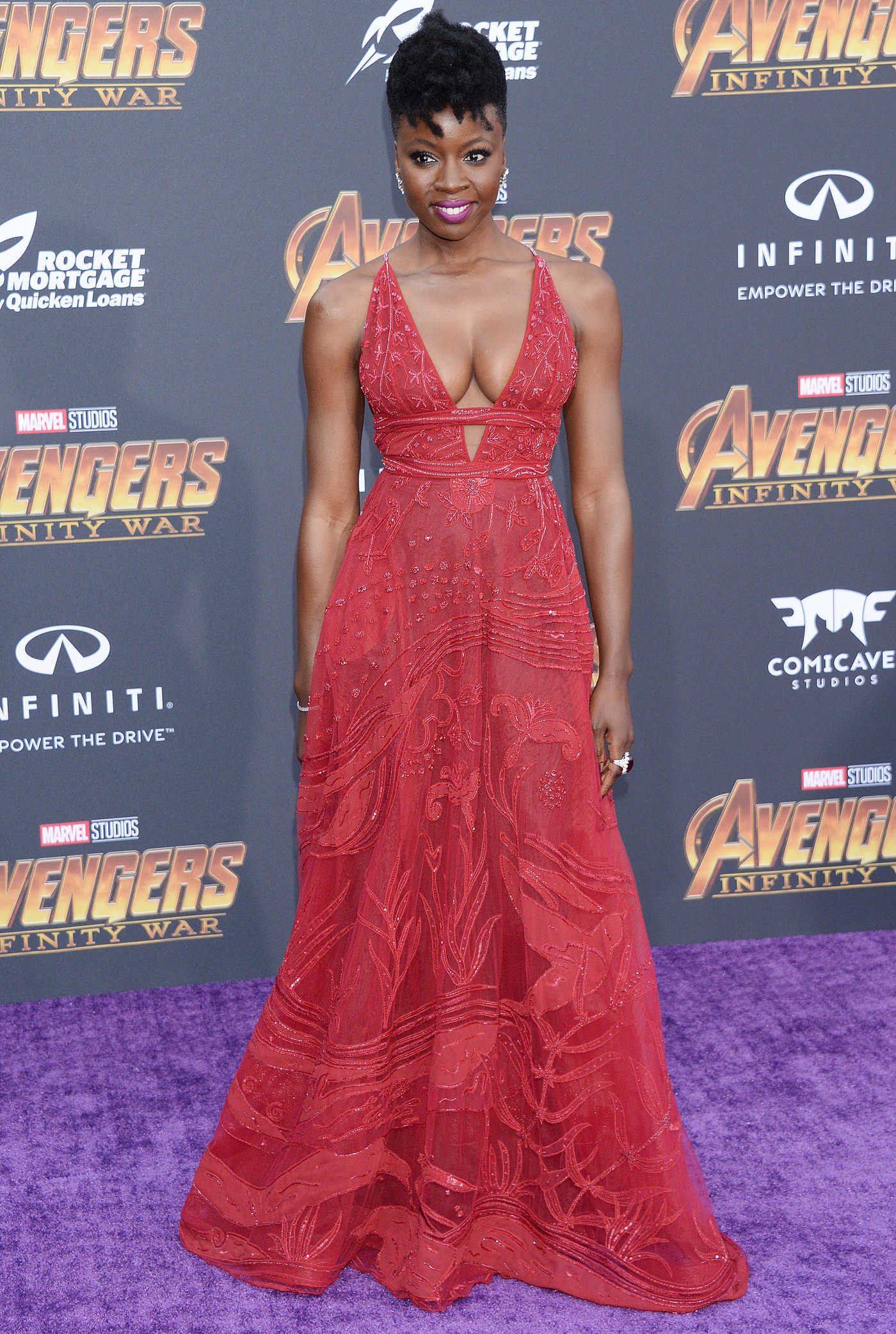 Danai Gurira at Avengers: Infinity War Premiere in Los Angeles 04/23/2018