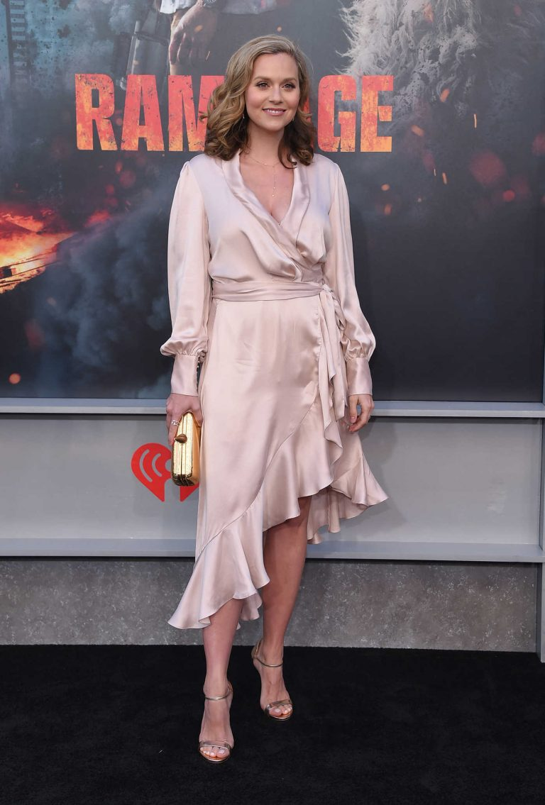 Hilarie Burton at the Rampage Premiere in Los Angeles 04/04/2018-1