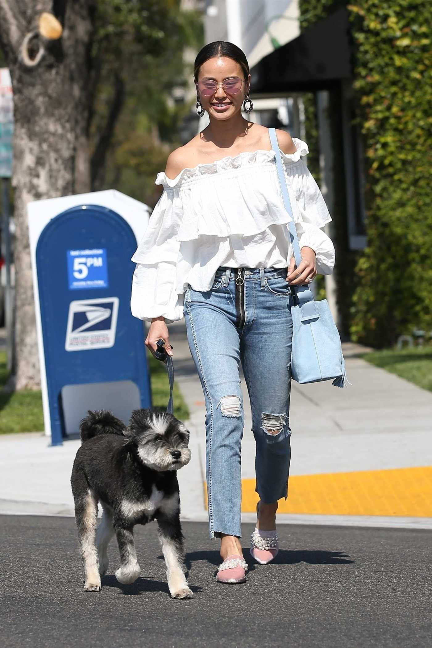 Jamie Chung Goes Shopping with Her Puppy in Beverly Hills 04/04/2018