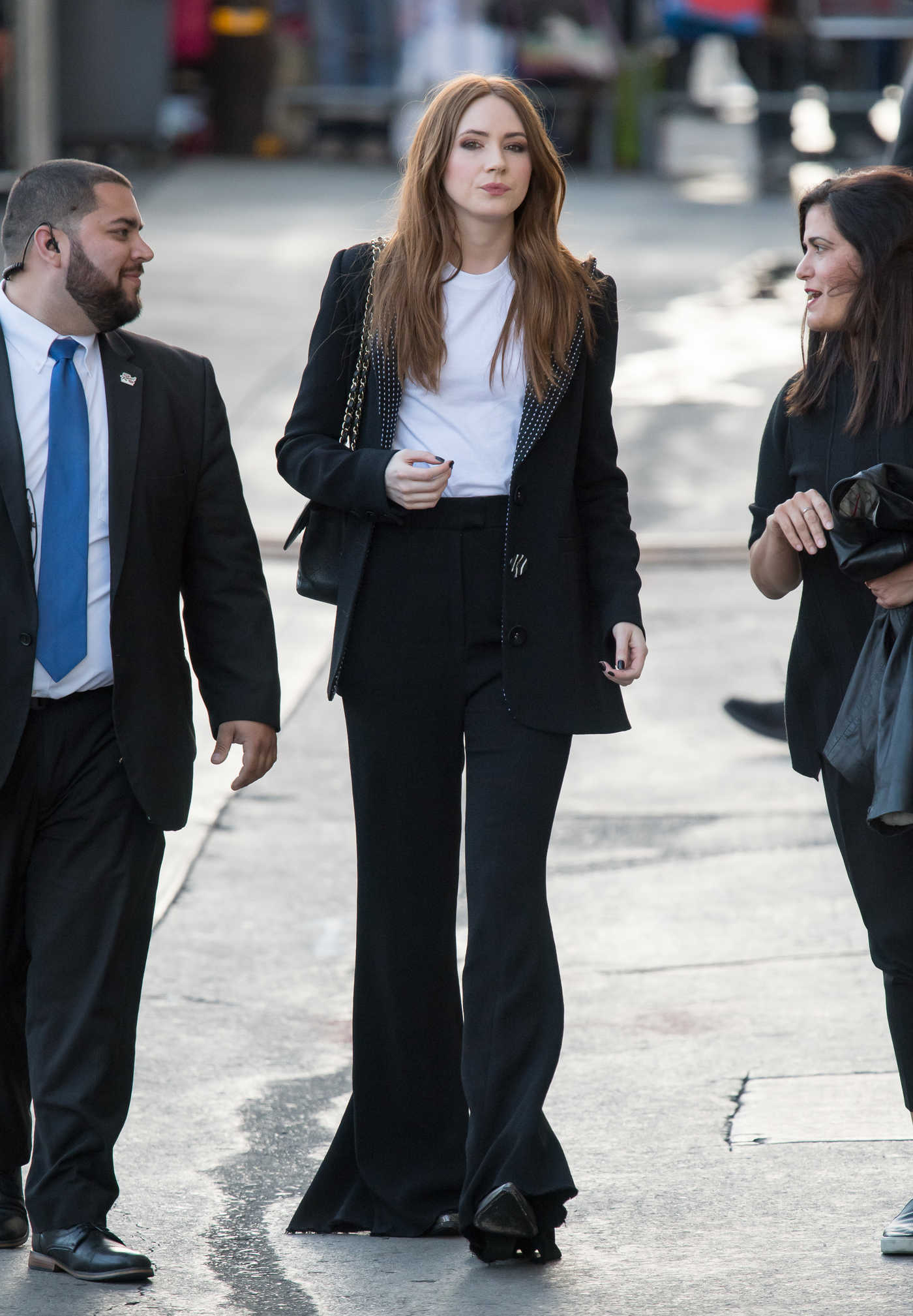 Karen Gillan Leaves Jimmy Kimmel Live in Los Angeles 04/25/2018