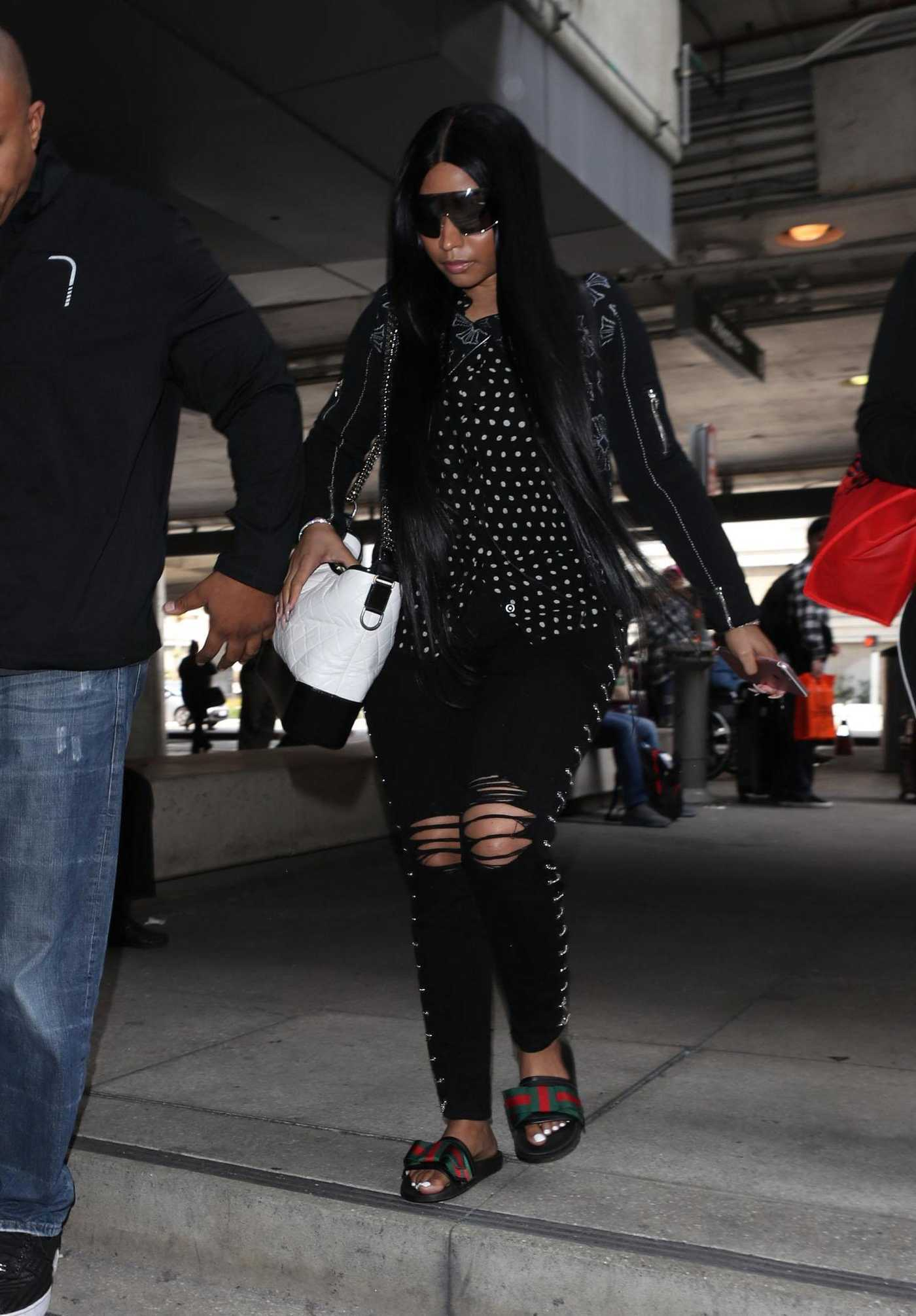 Nicki Minaj Was Spotted at LAX Airport in LA 04/03/2018