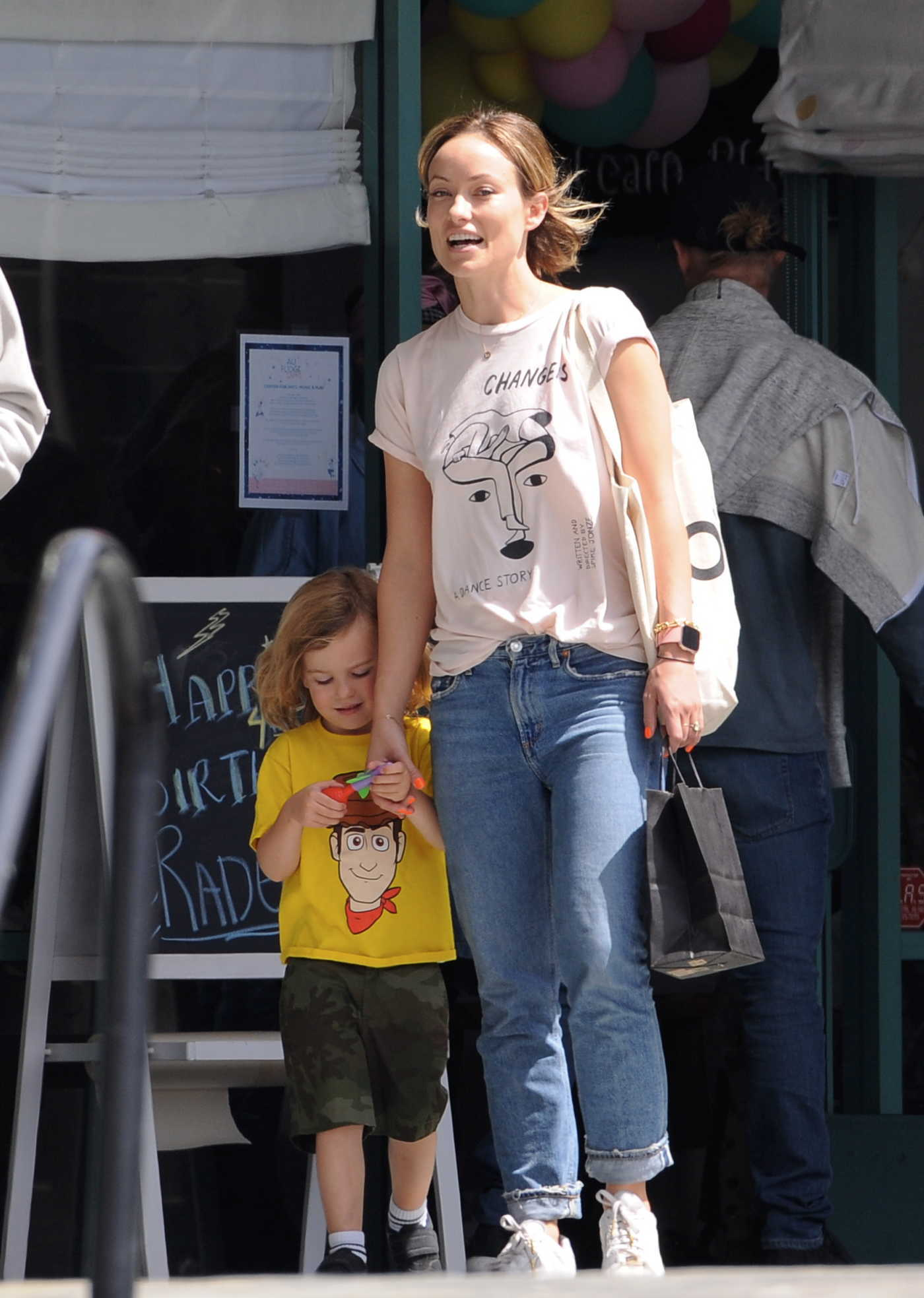 Olivia Wilde Attends a Birthday Party in West Hollywood 04/01/2018