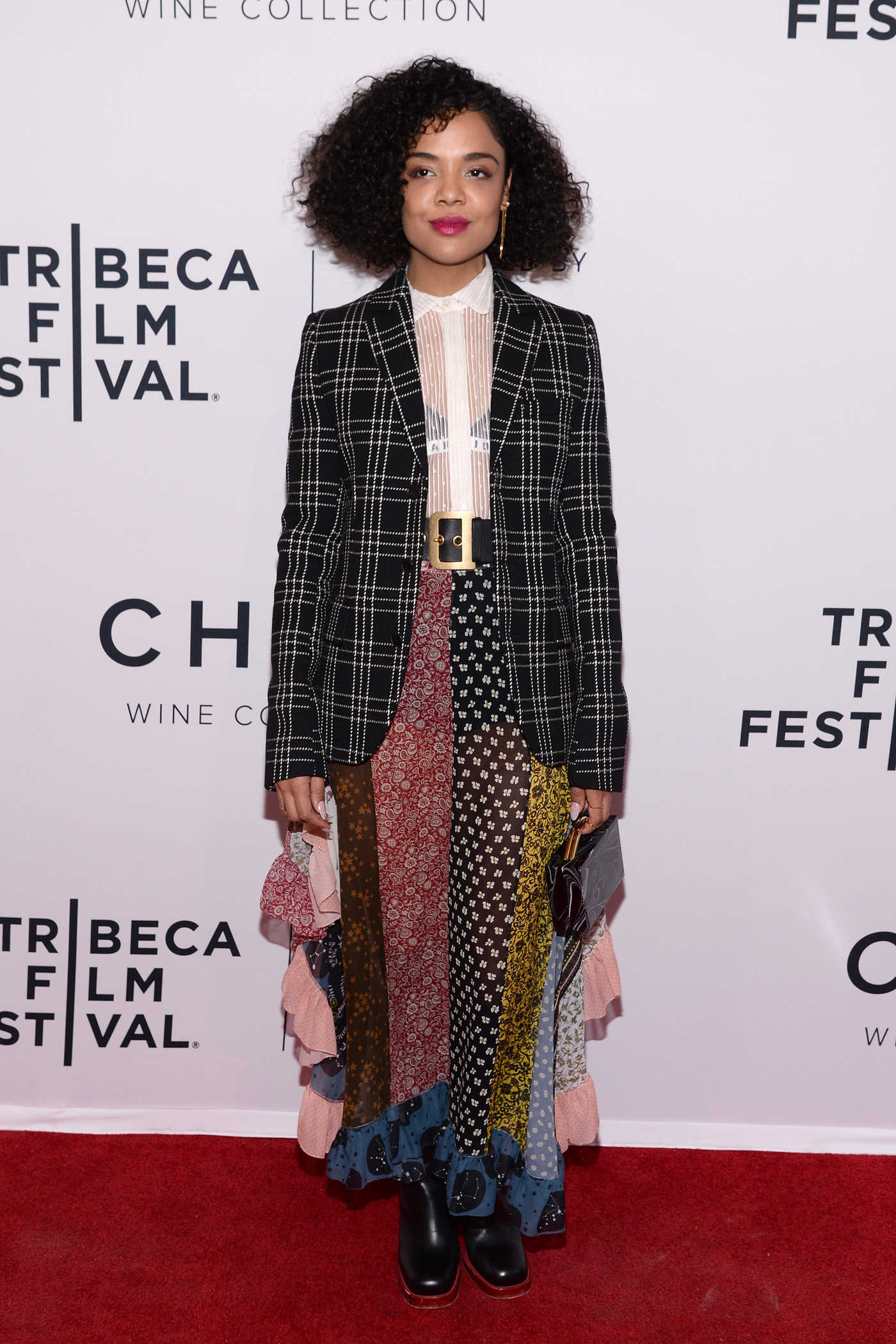 Tessa Thompson at the Little Woods Screening During the Tribeca Film Festival in New York City 04/21/2018