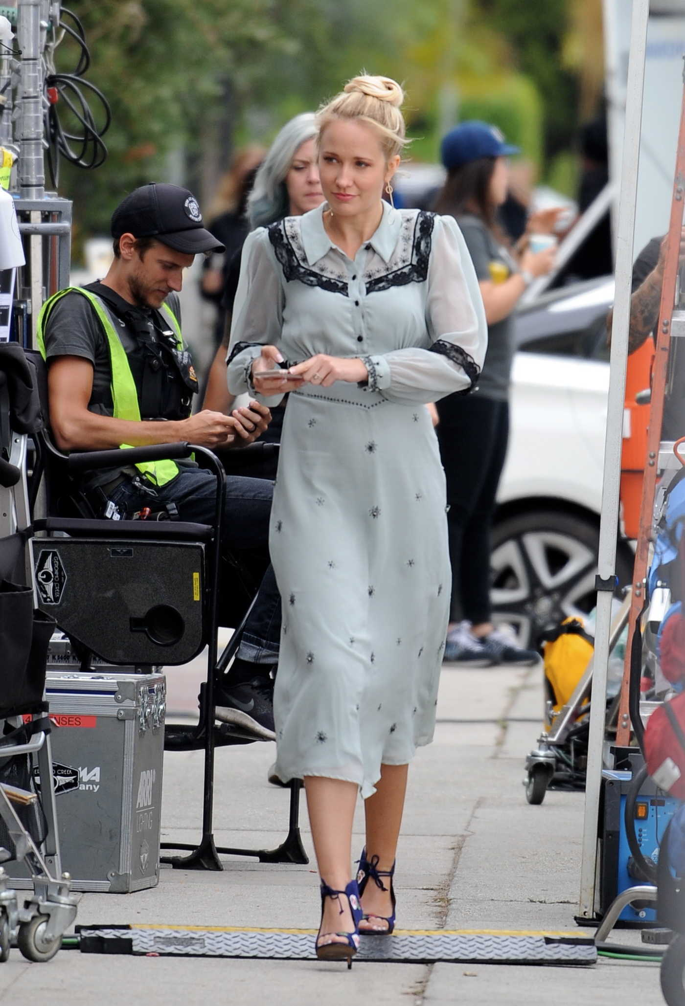 Anna Camp on the Set of Comedy Movie The Wedding Year in Los Angeles 05/31/2018