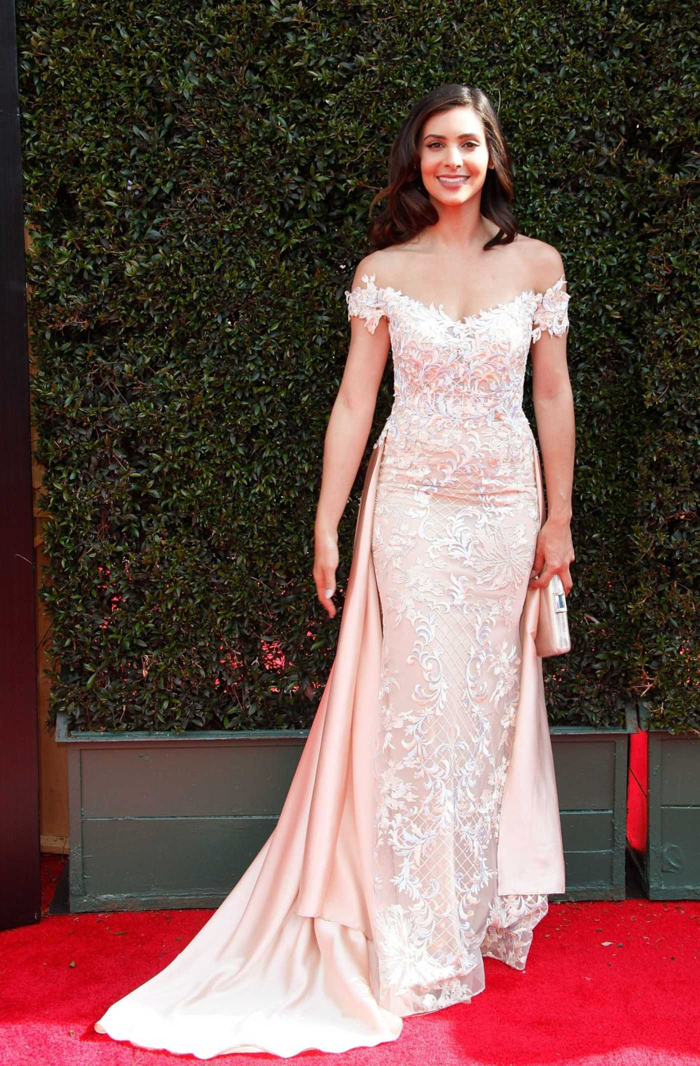 Camila Banus at the 45th Annual Daytime Emmy Awards in Los Angeles 04/29/2018