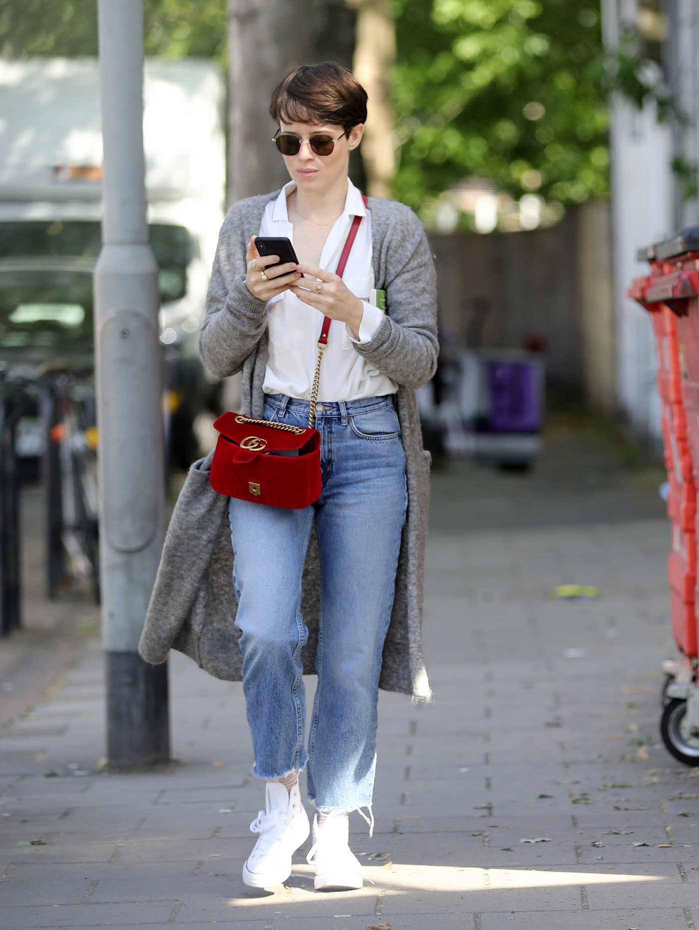 Claire Foy Was Seen Out in London 05/17/2018