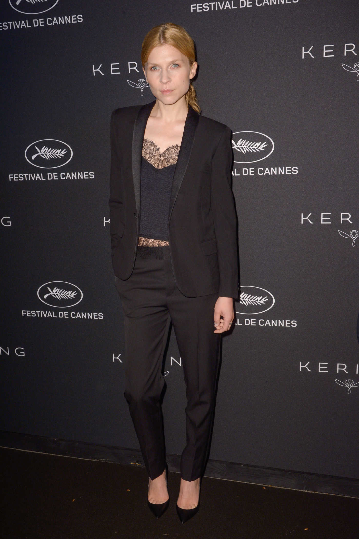 Clemence Poesy at the Kering Women in Motion Awards During the 71th Cannes Film Festival 05/14/2018