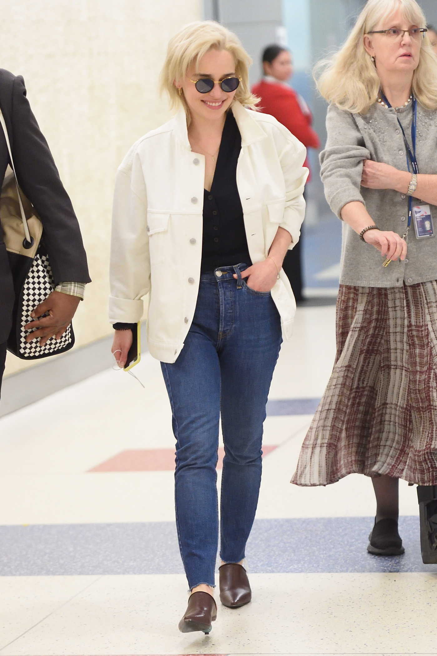 Emilia Clarke Arrives at JFK Airport in New York City 05/05/2018
