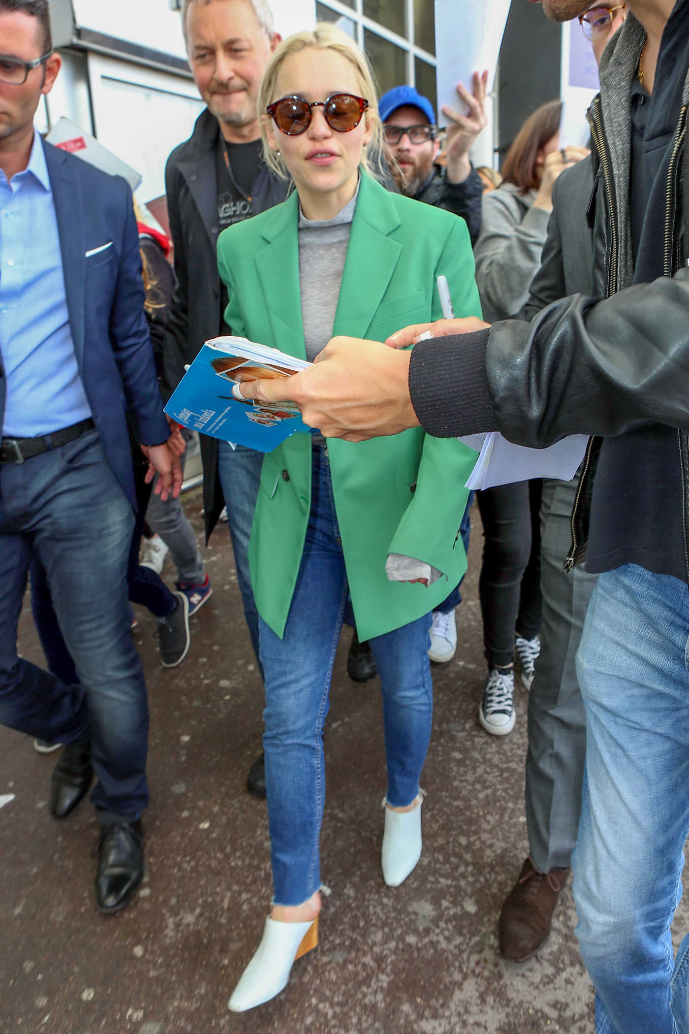 Emilia Clarke Arrives at Nice Cote d'Azur Airport in Nice 05/14/2018