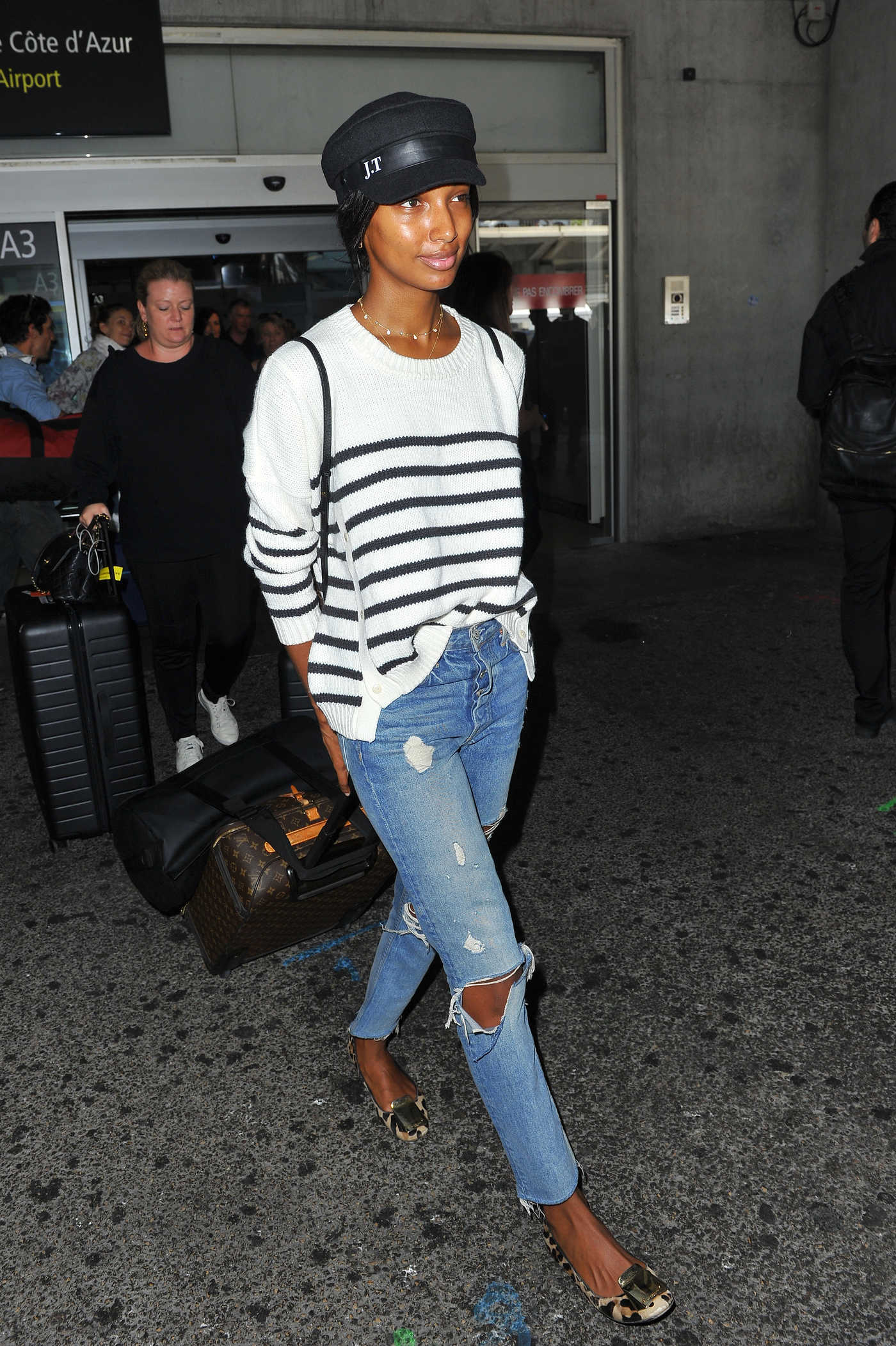 Jasmine Tookes Arrives at Cote D'Azur Airport in Nice 05/11/2018
