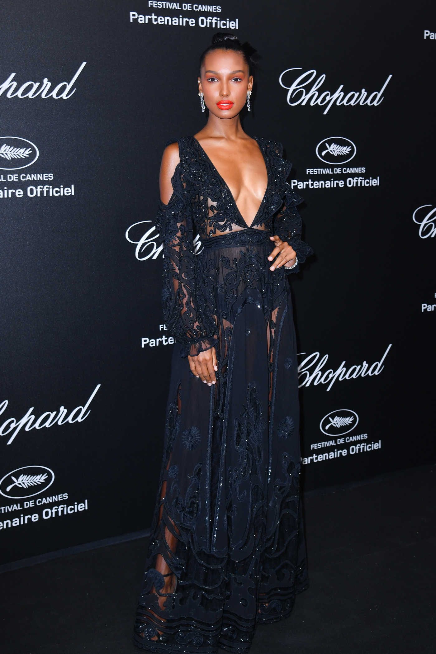 Jasmine Tookes at the Secret Chopard Party During the 71st Annual Cannes Film Festival 05/11/2018