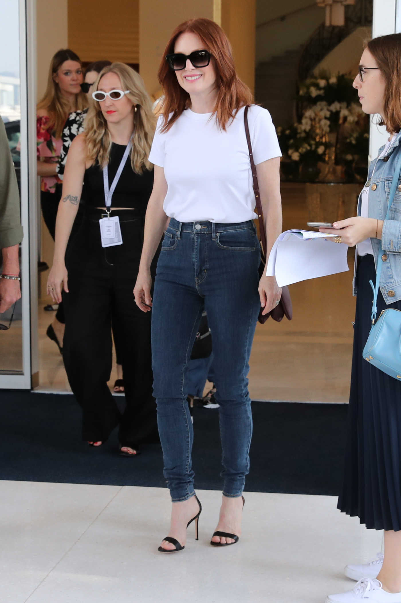 Julianne Moore Was Spotted at Hotel Martinez in Cannes 05/07/2018
