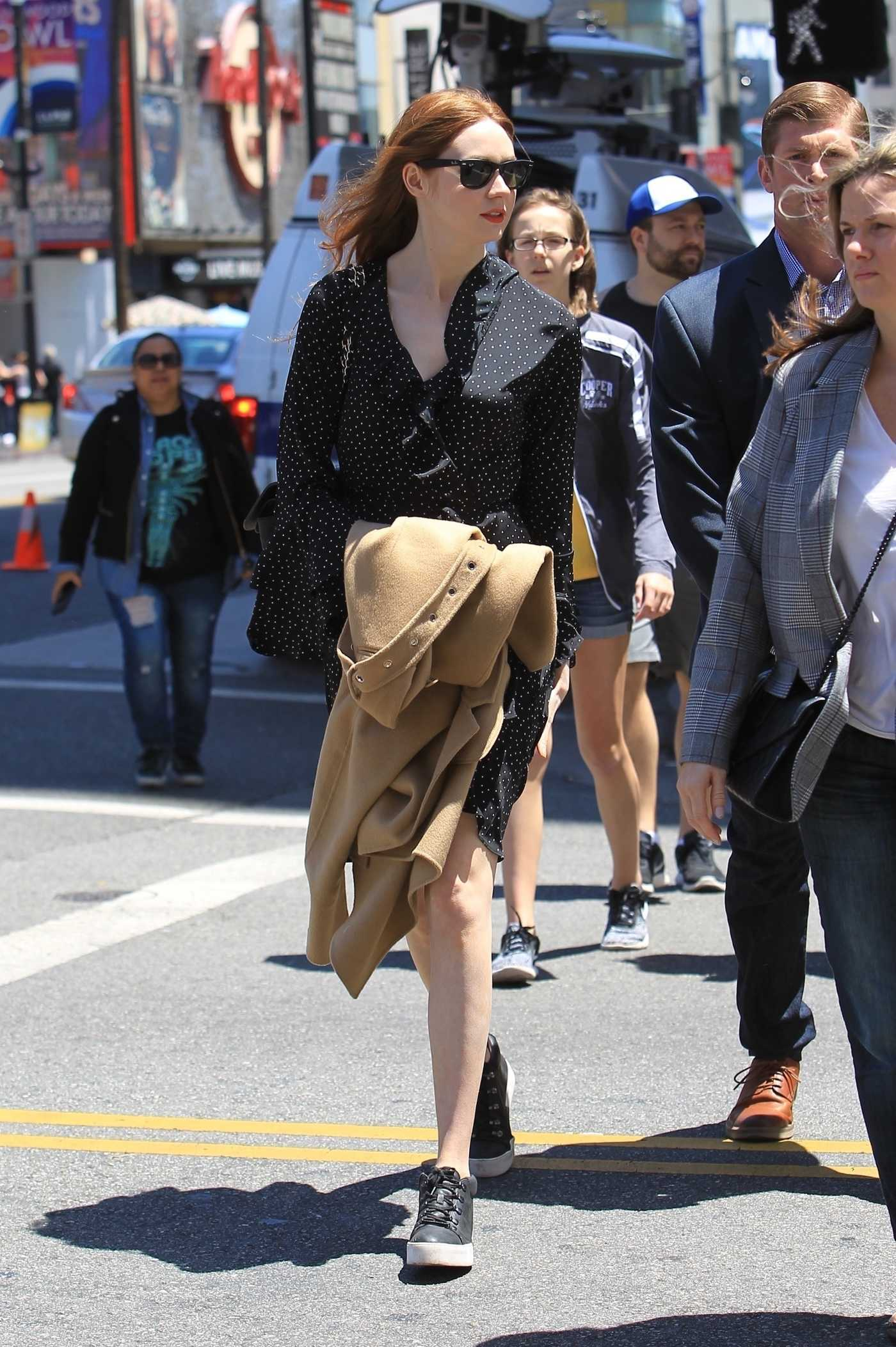 Karen Gillan Was Spotted on the Hollywood Walk of Fame in Los Angeles 05/03/2018