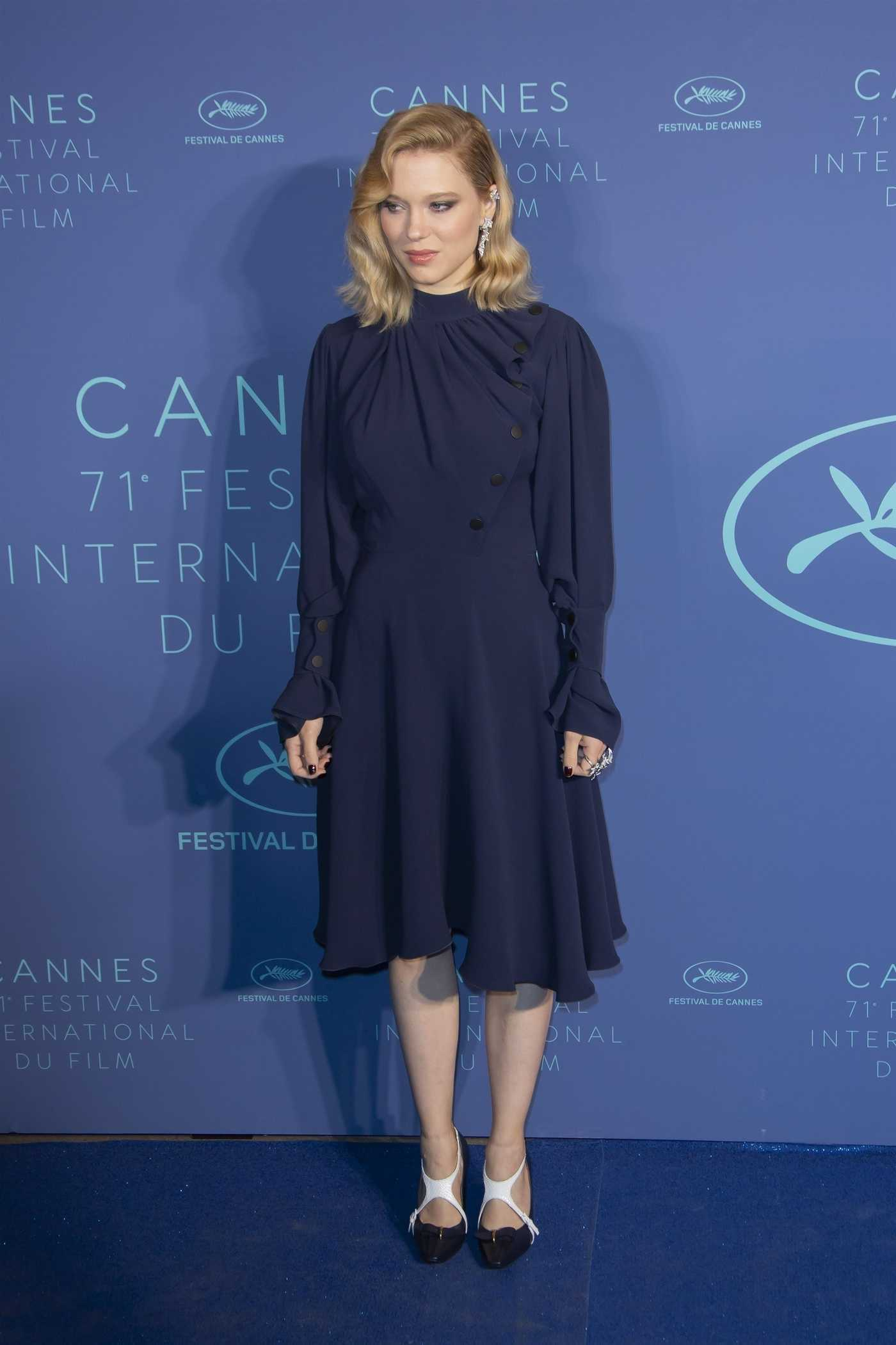 Lea Seydoux at the Gala Dinner During the 71st Annual Cannes Film Festival in Cannes 05/08/2018