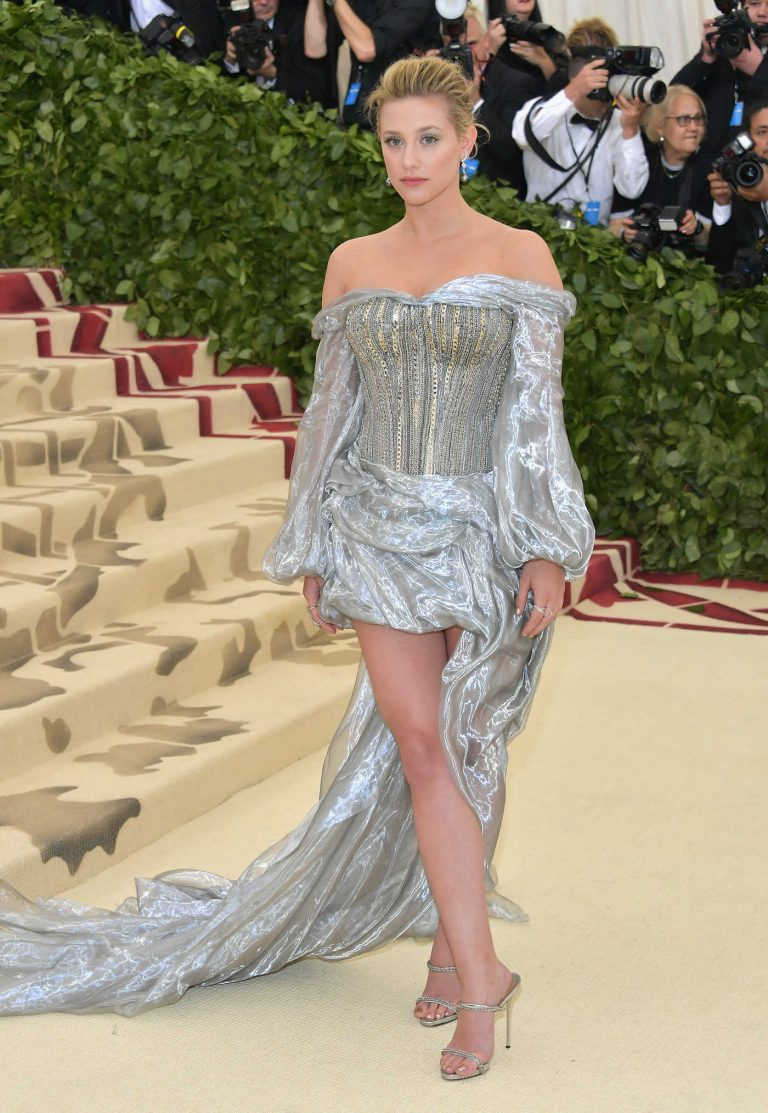 Lili Reinhart at the Heavenly Bodies: Fashion and The Catholic Imagination Costume Institute Gala in New York City 05/07/2018-1