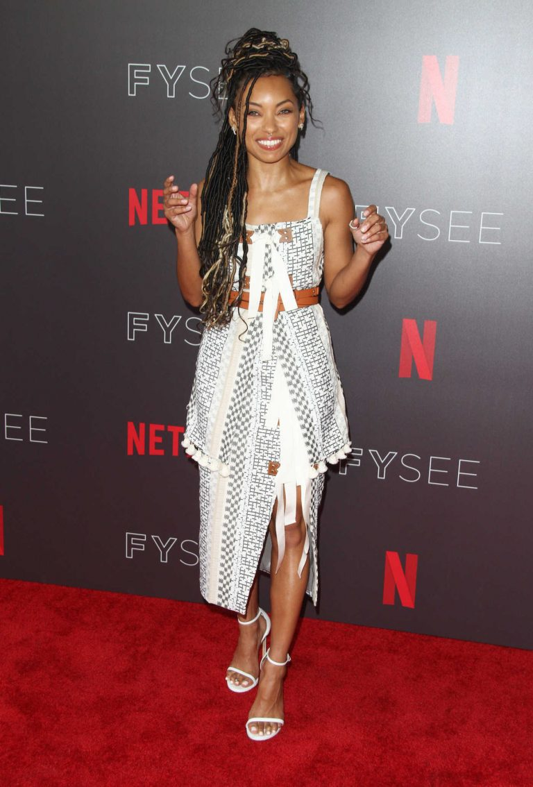 Logan Browning at Netflix Comediennes in Conversation Panel FYsee Event in Los Angeles 05/29/2018-1