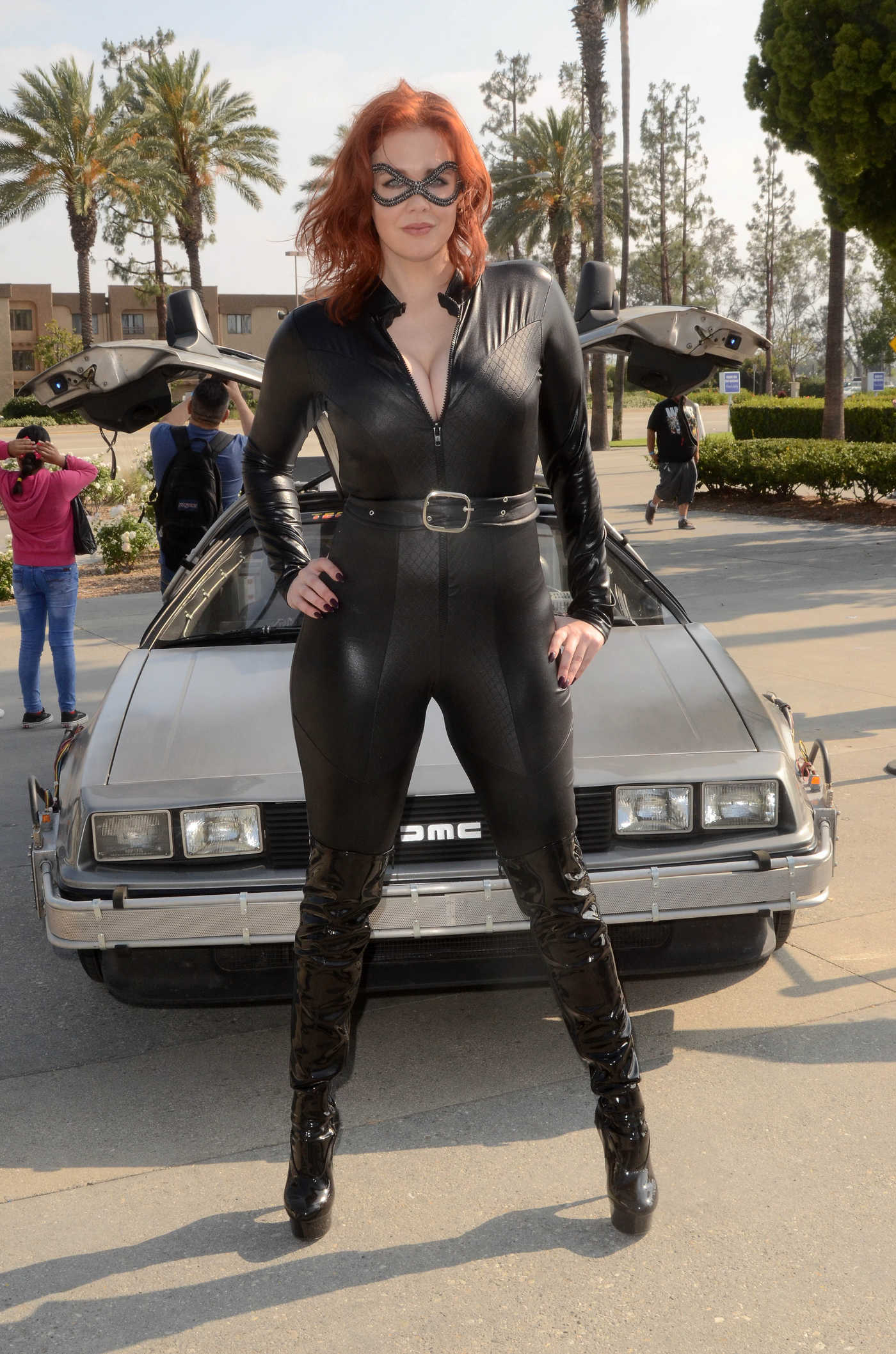 Maitland Ward as Catwoman During the Comic Con Revolution Ontario Convention 05/19/2018