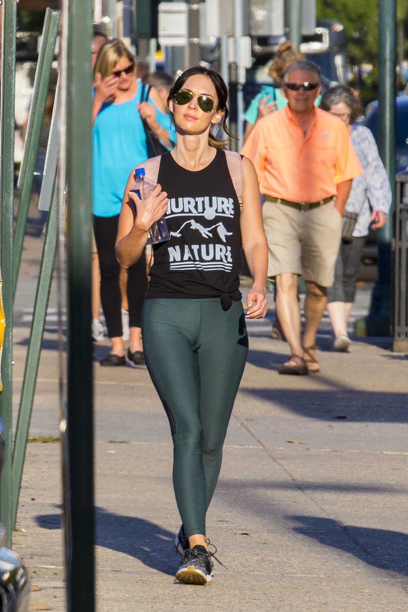 Megan Fox Wears Figure Hugging Yoga Pants Out in New Orleans 05/29/2018