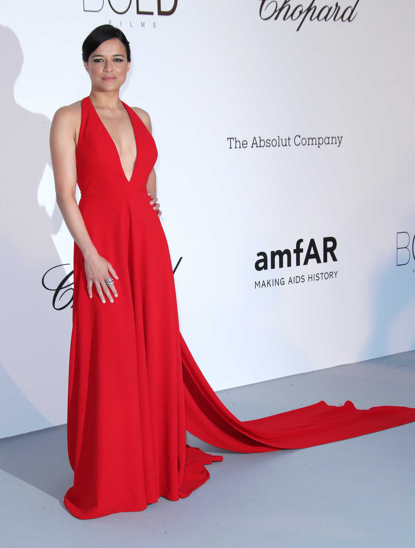 Michelle Rodriguez at amfAR's 25th Cinema Against AIDS Gala During the 71st Cannes Film Festival in Cannes 05/17/2018