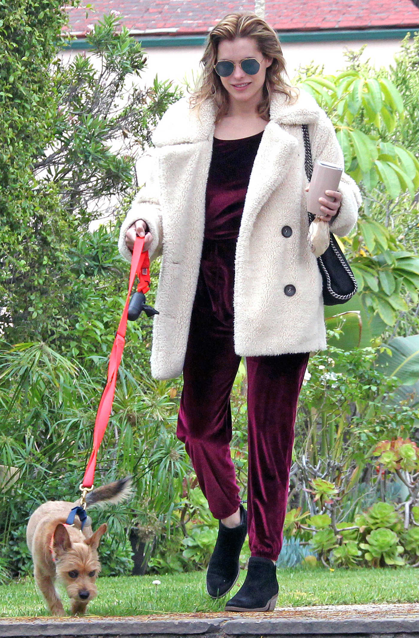 Rachael Taylor Walks Her Dog Out in LA 05/12/2018