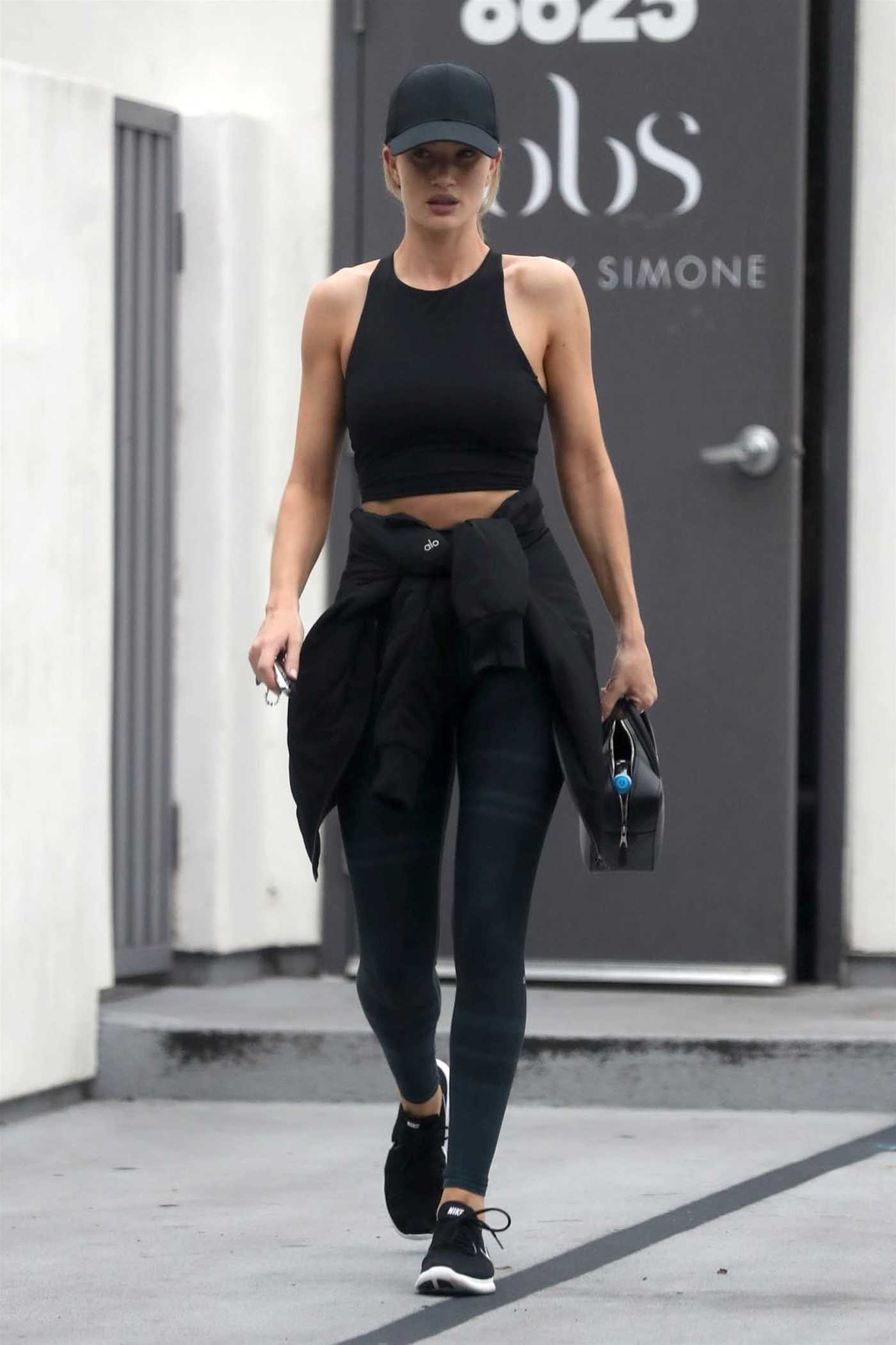 Rosie Huntington-Whiteley Leaves the Body By Simone Gym in West Hollywood 05/24/2018
