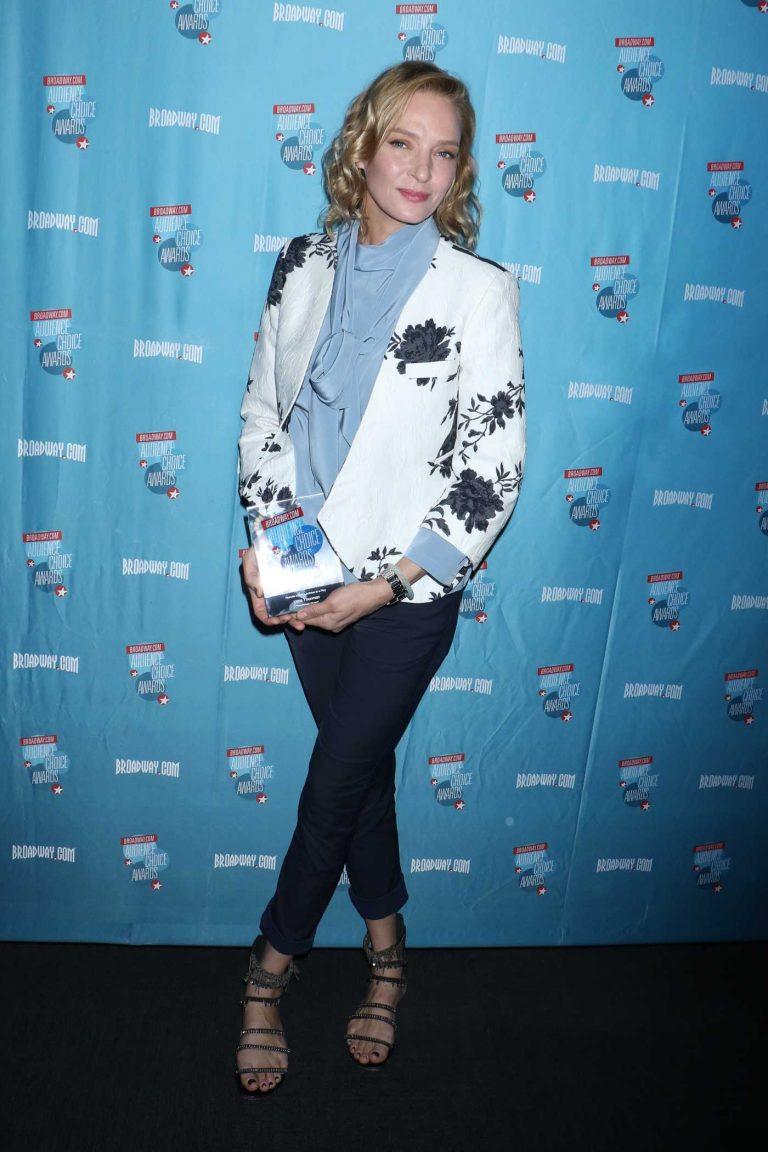 Uma Thurman at Broadway.com Audience Choice Awards in New York 05/24/2018-1