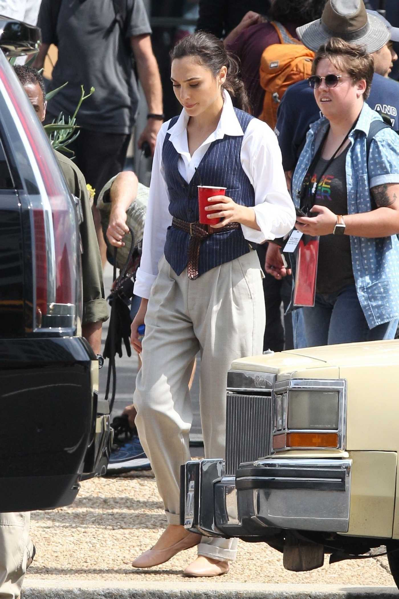 Gal Gadot on the Set of Wonder Woman 1984 in Georgetown 06/13/2018