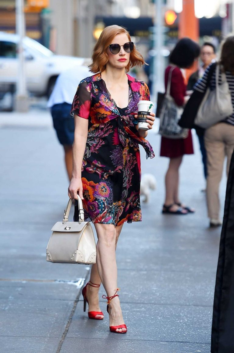 Jessica Chastain Heads Out in Manhattan, New York 06/26/2018-1