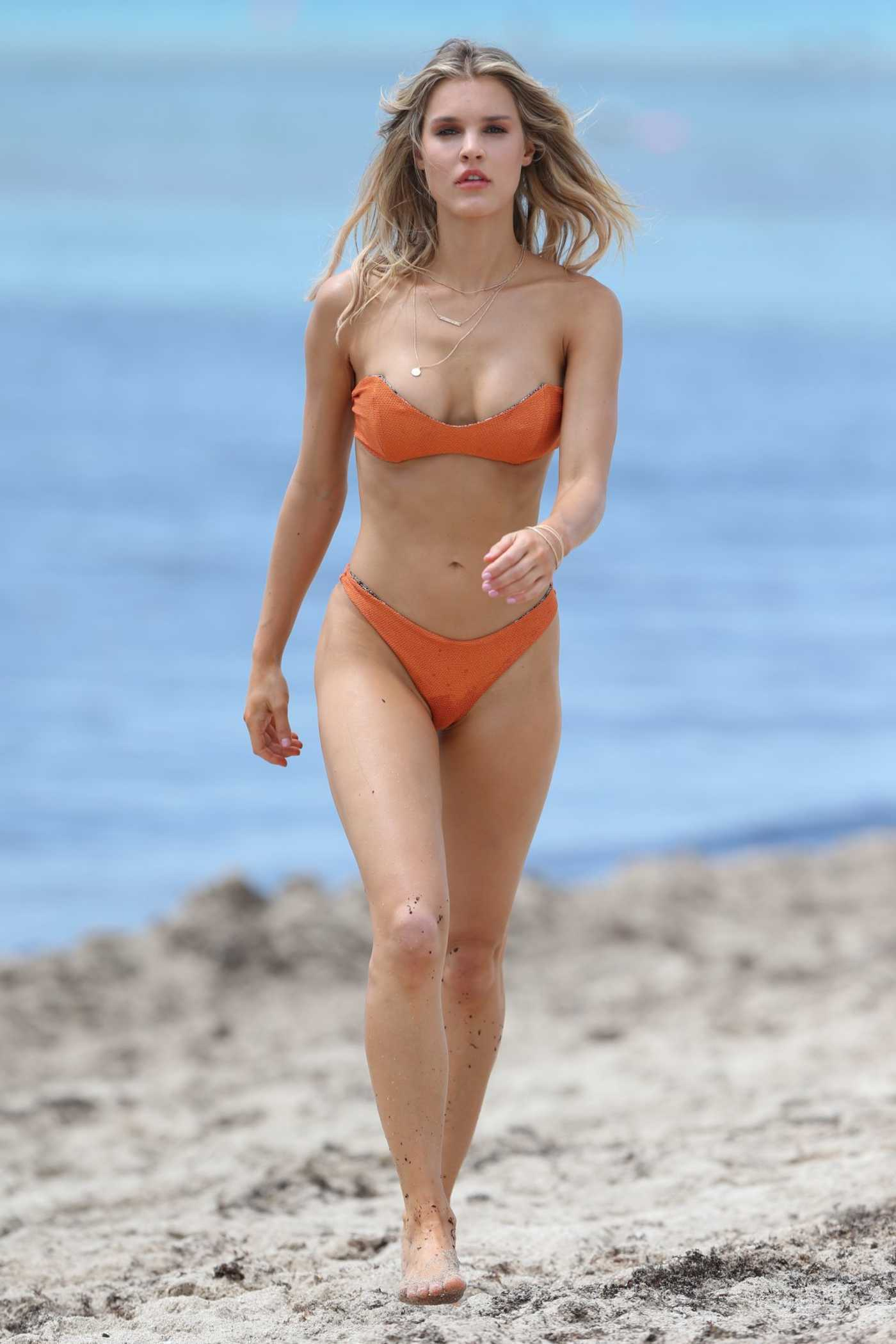 Joy Corrigan Does a Bikini Photoshoot on the Beach in Miami 06/22/2018