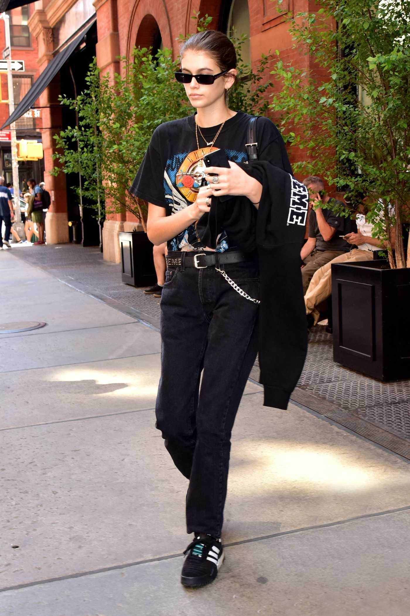 Kaia Gerber Leaves Her Hotel in NYC 06/29/2018