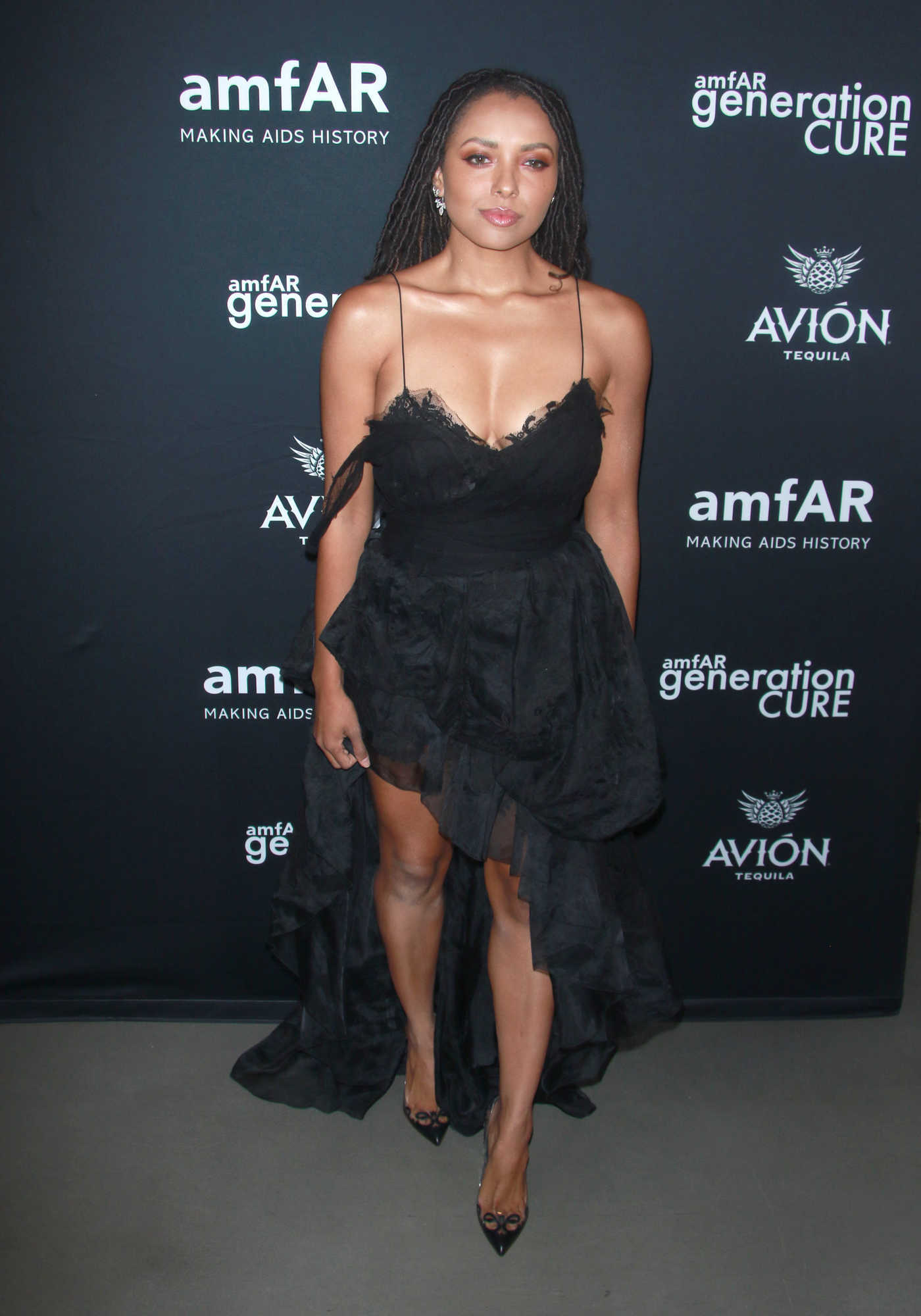 Kat Graham at amfAR GenCure Solstice 2018 at Second in NYC 06/21/2018