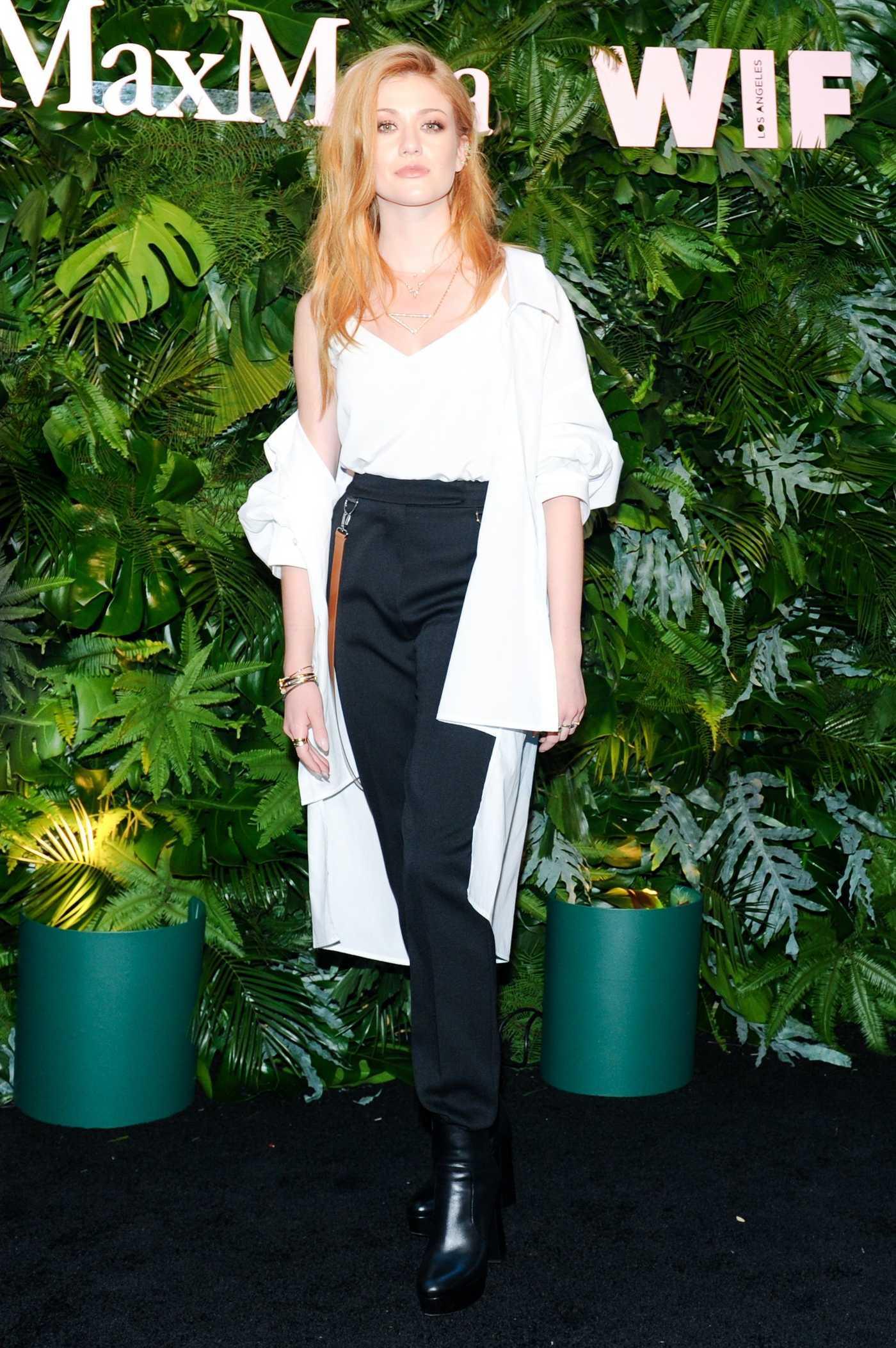 Katherine McNamara at 2018 MaxMara WIF Face of the Future in Los Angeles 06/12/2018