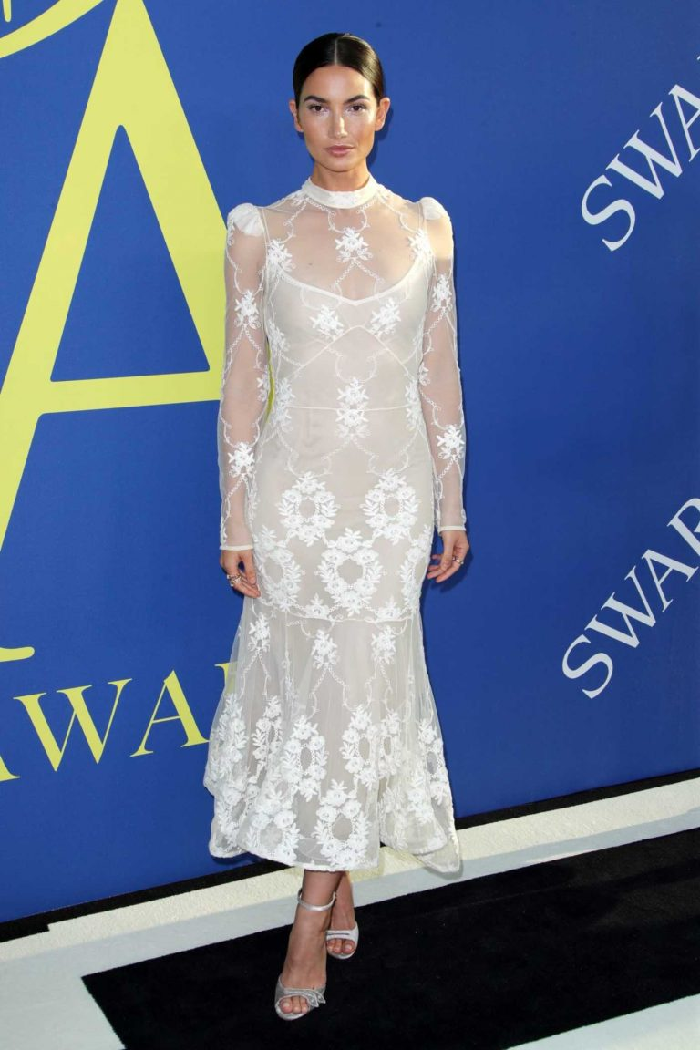 Lily Aldridge at 2018 CFDA Fashion Awards at Brooklyn Museum in New York City 06/04/2018-1