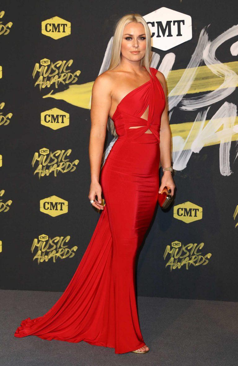 Lindsey Vonn at 2018 CMT Music Awards at Bridgestone Arena in Nashville 06/06/2018-1
