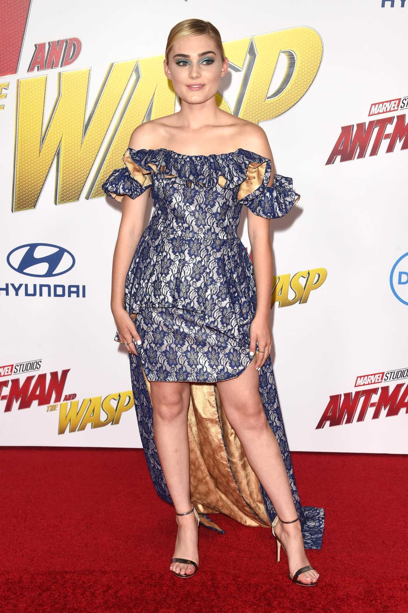 Meg Donnelly at Marvel's Ant-Man and the Wasp Premiere in Los Angeles 06/25/2018