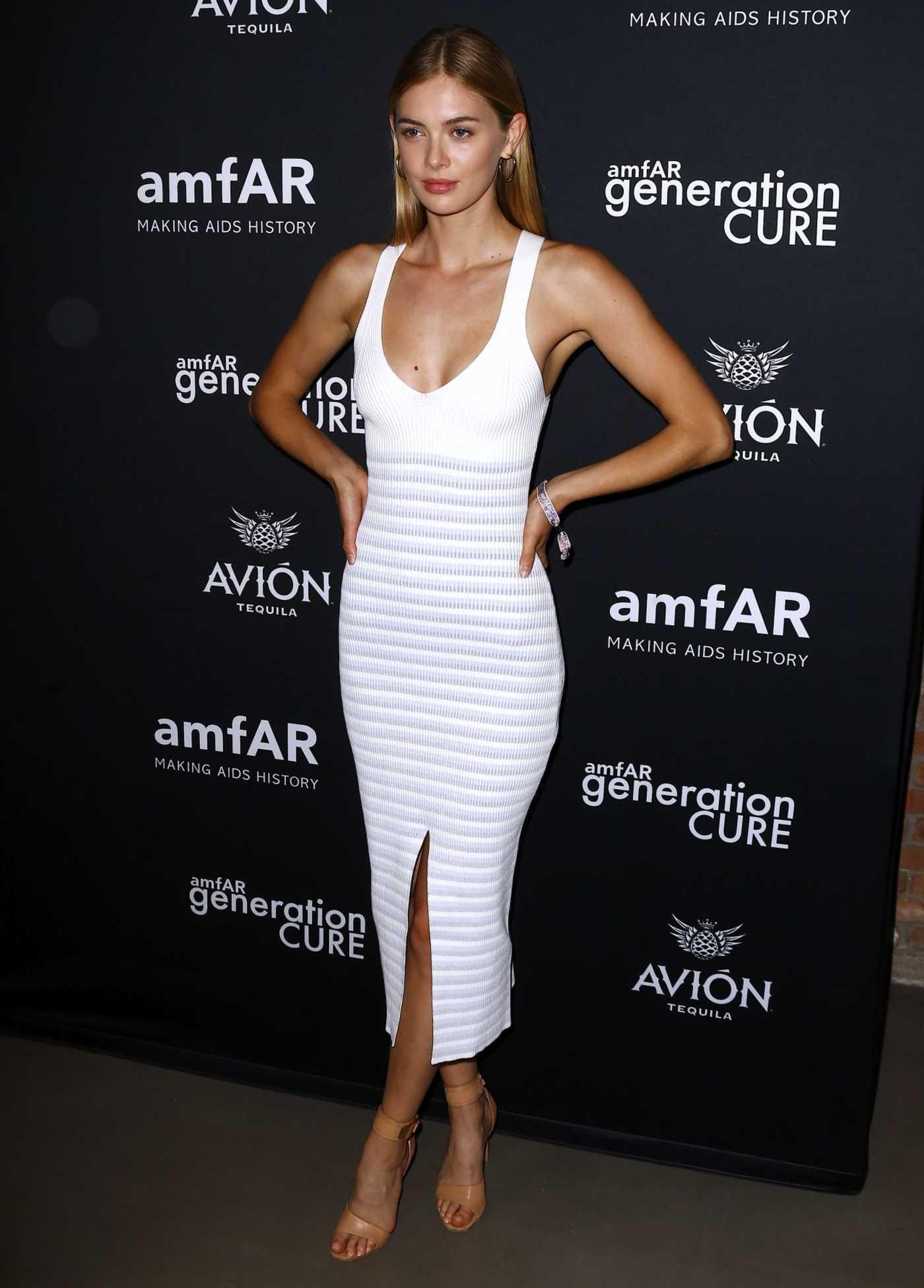 Megan Williams at amfAR GenCure Solstice 2018 at Second in NYC 06/21/2018