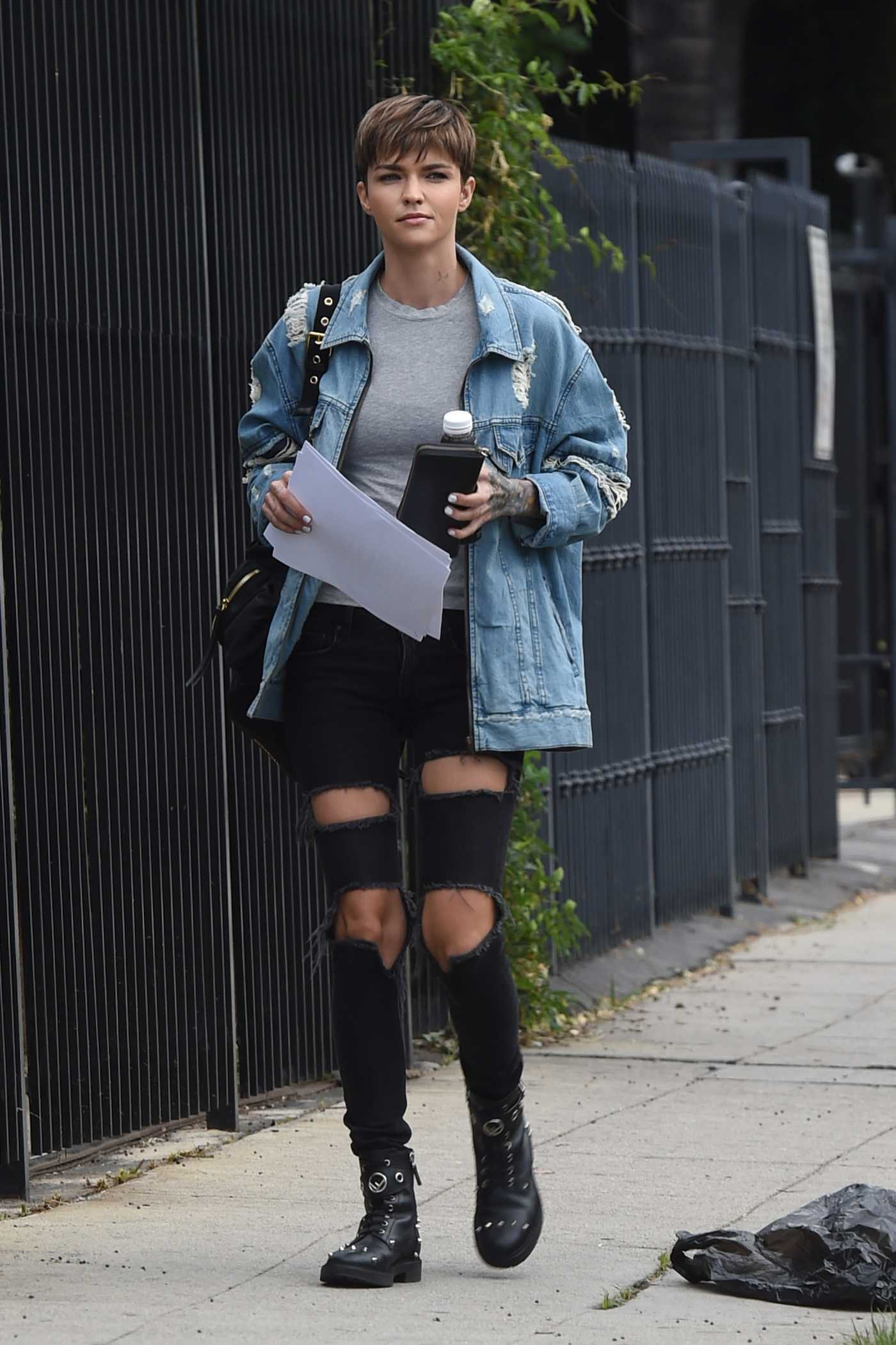 Ruby Rose Goes to a Movie Studio in Los Angeles 06/17/2018