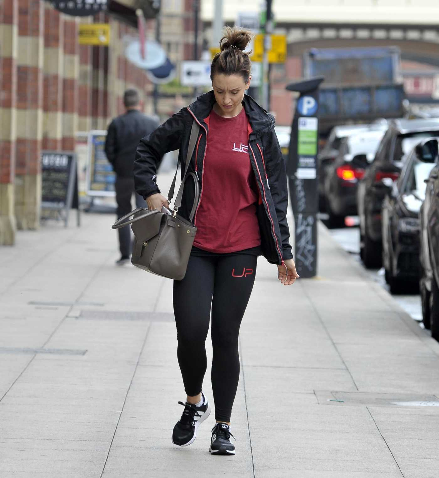 Catherine Tyldesley Leaves the Gym in Manchester 07/13/2018