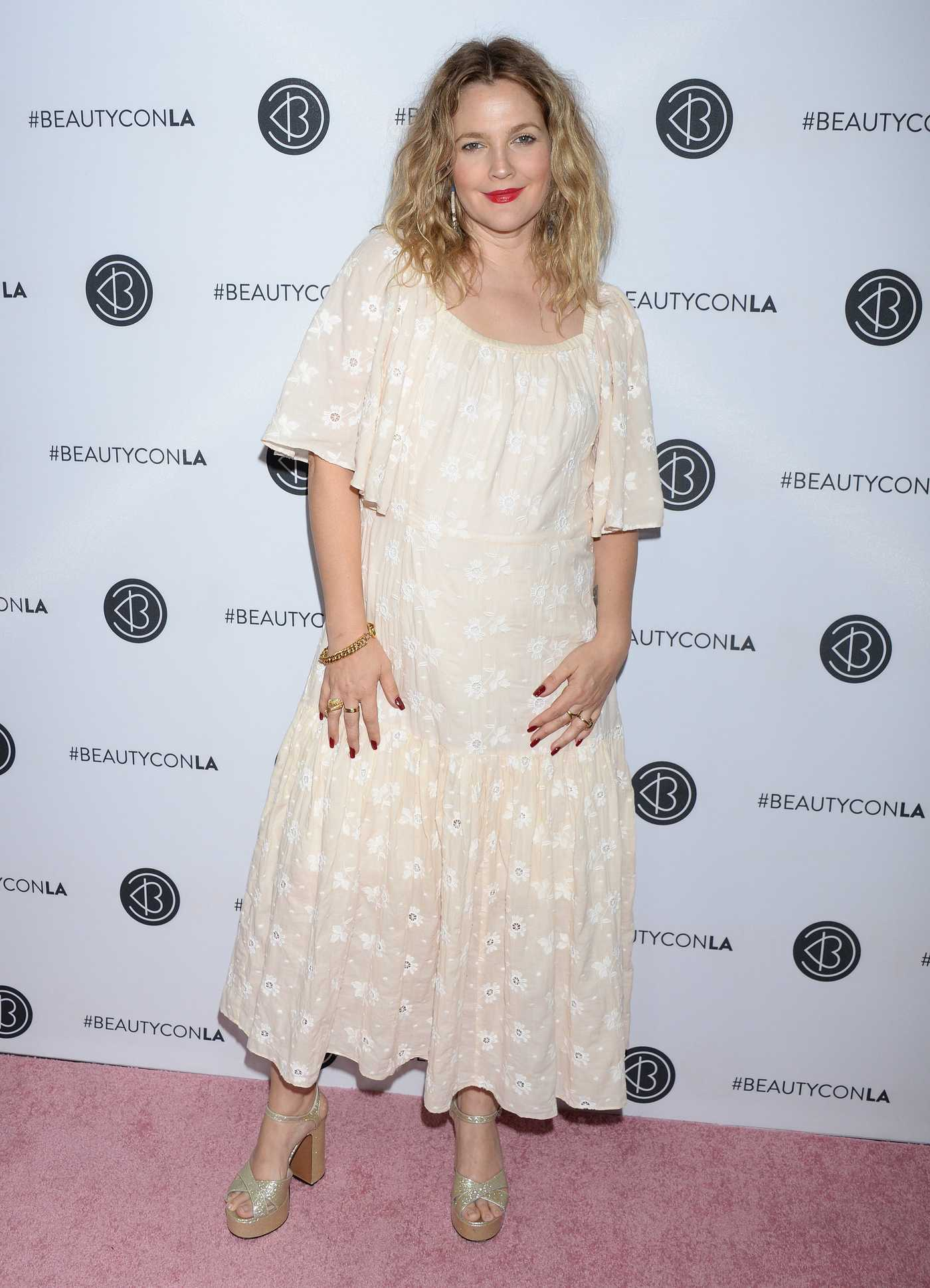 Drew Barrymore Attends Los Angeles Beautycon Festival in Los Angeles 07/15/2018