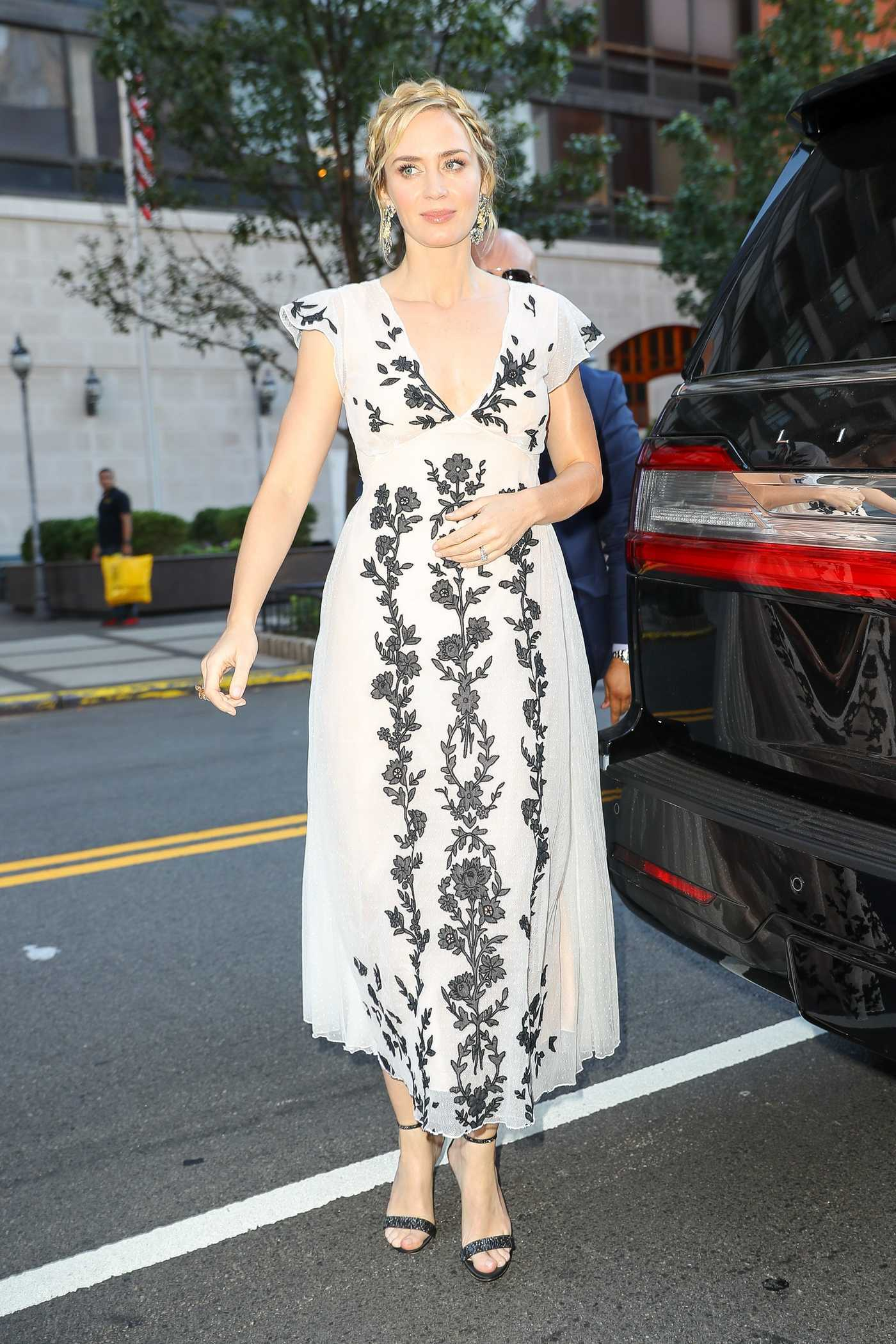 Emily Blunt Arrives at the 12th Annual AIS Freeing Voices Changing Lives Gala in New York 07/09/2018