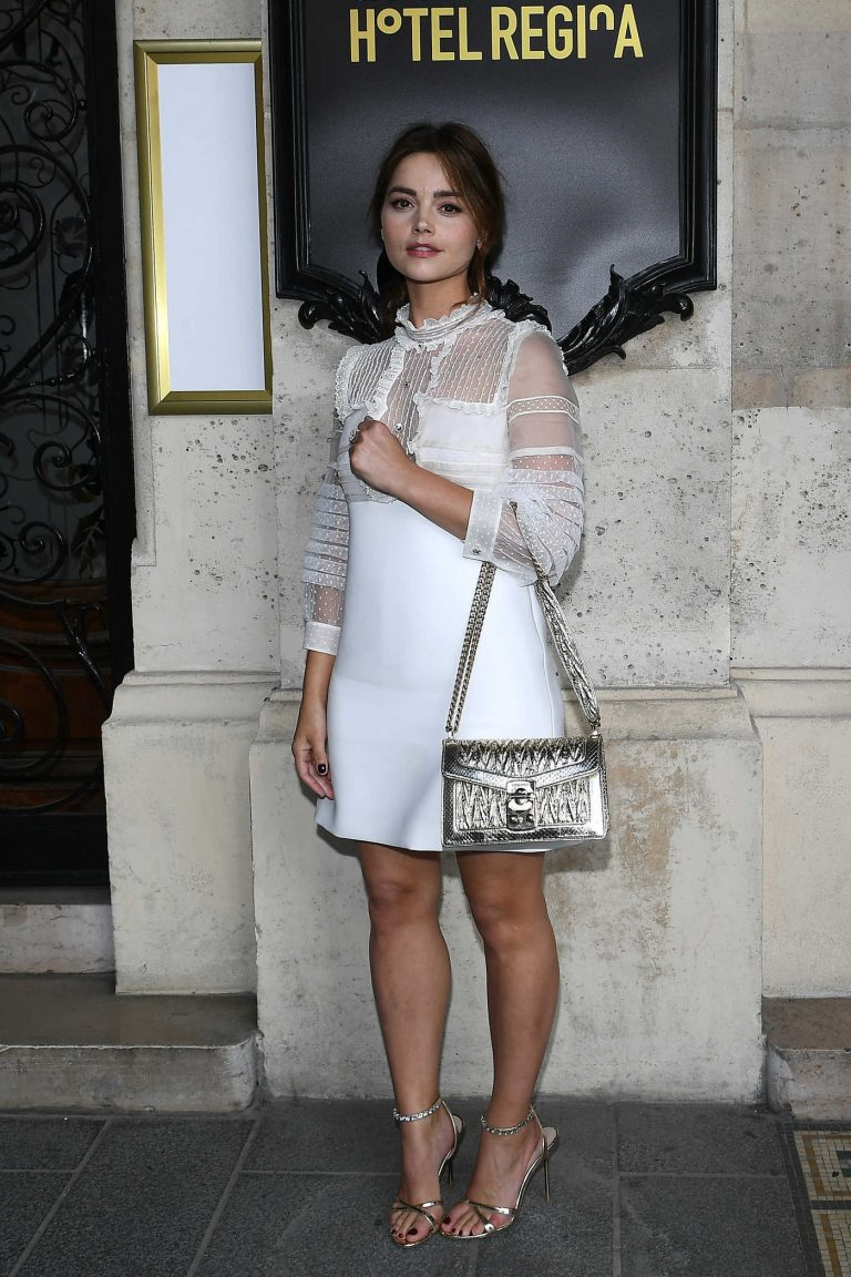 Jenna Coleman at 2019 Miu Miu Cruise Collection Show Photocall in Paris 06/30/2018-1