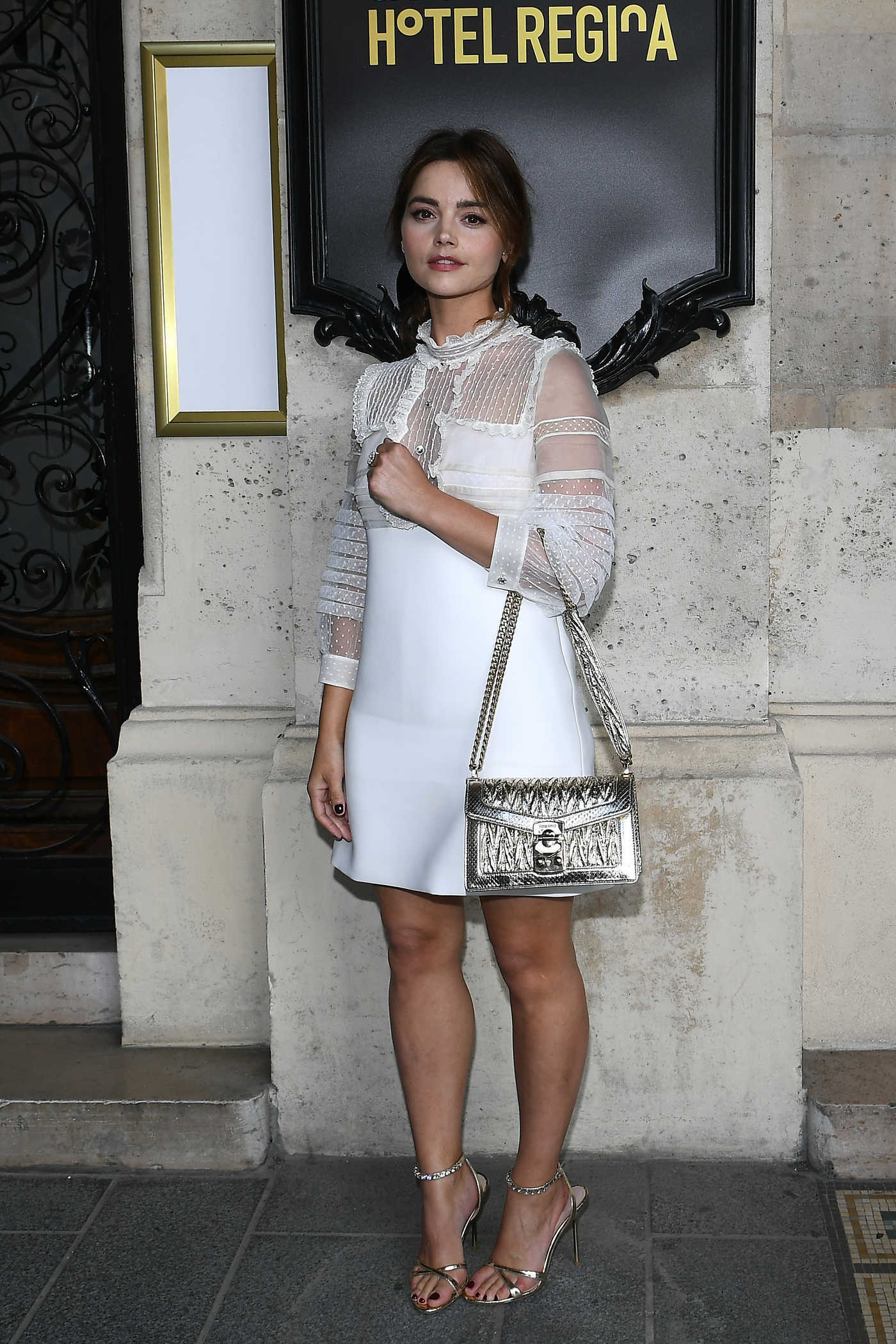 Jenna Coleman at 2019 Miu Miu Cruise Collection Show Photocall in Paris 06/30/2018