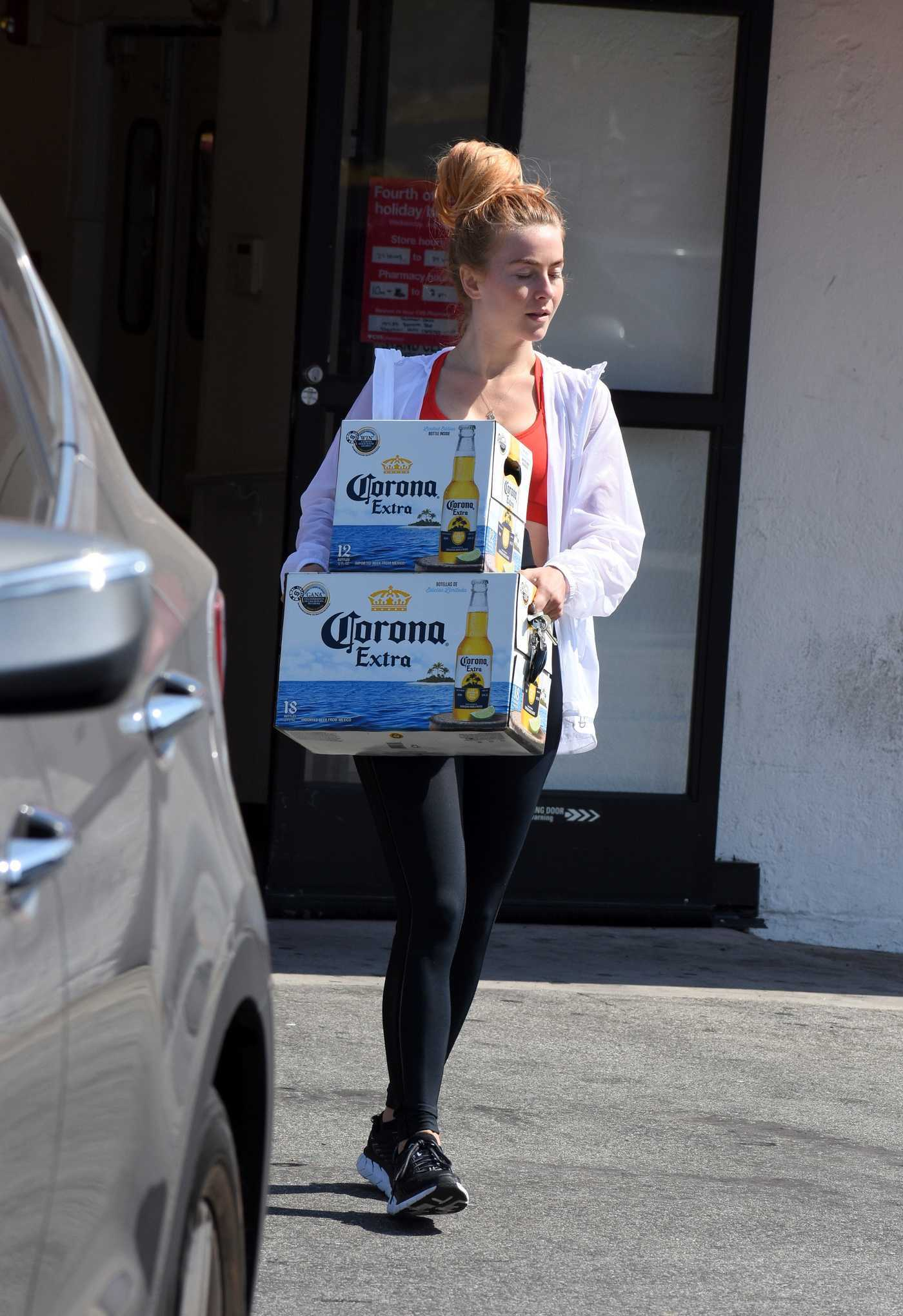 Julianne Hough Buys a Few Boxes of Beer in Studio City 07/04/2018
