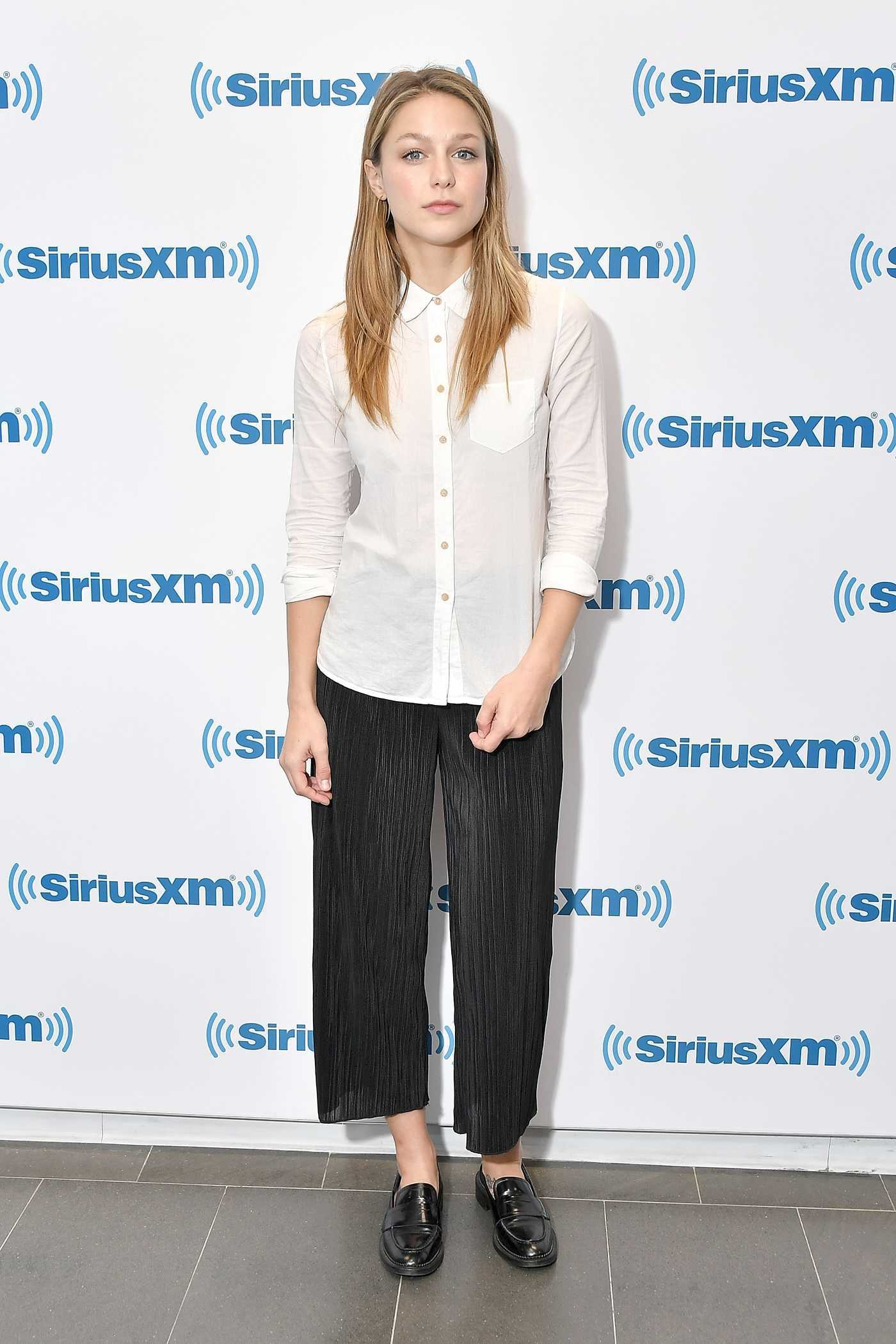 Melissa Benoist Visits SiriusXM Studios in New York City 07/12/2018