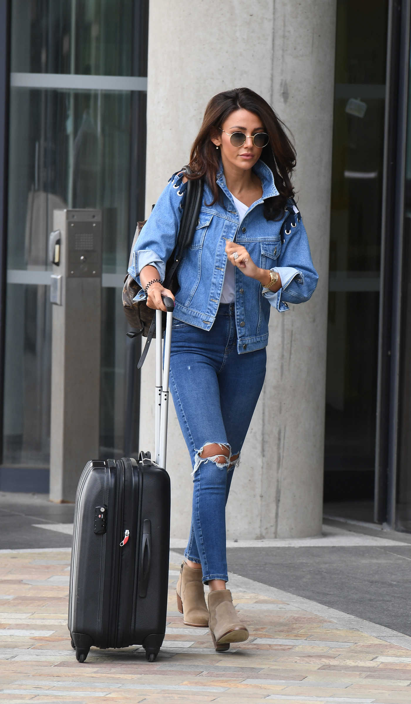 Michelle Keegan Arrives at BBC Studios in Manchester 07/18/2018