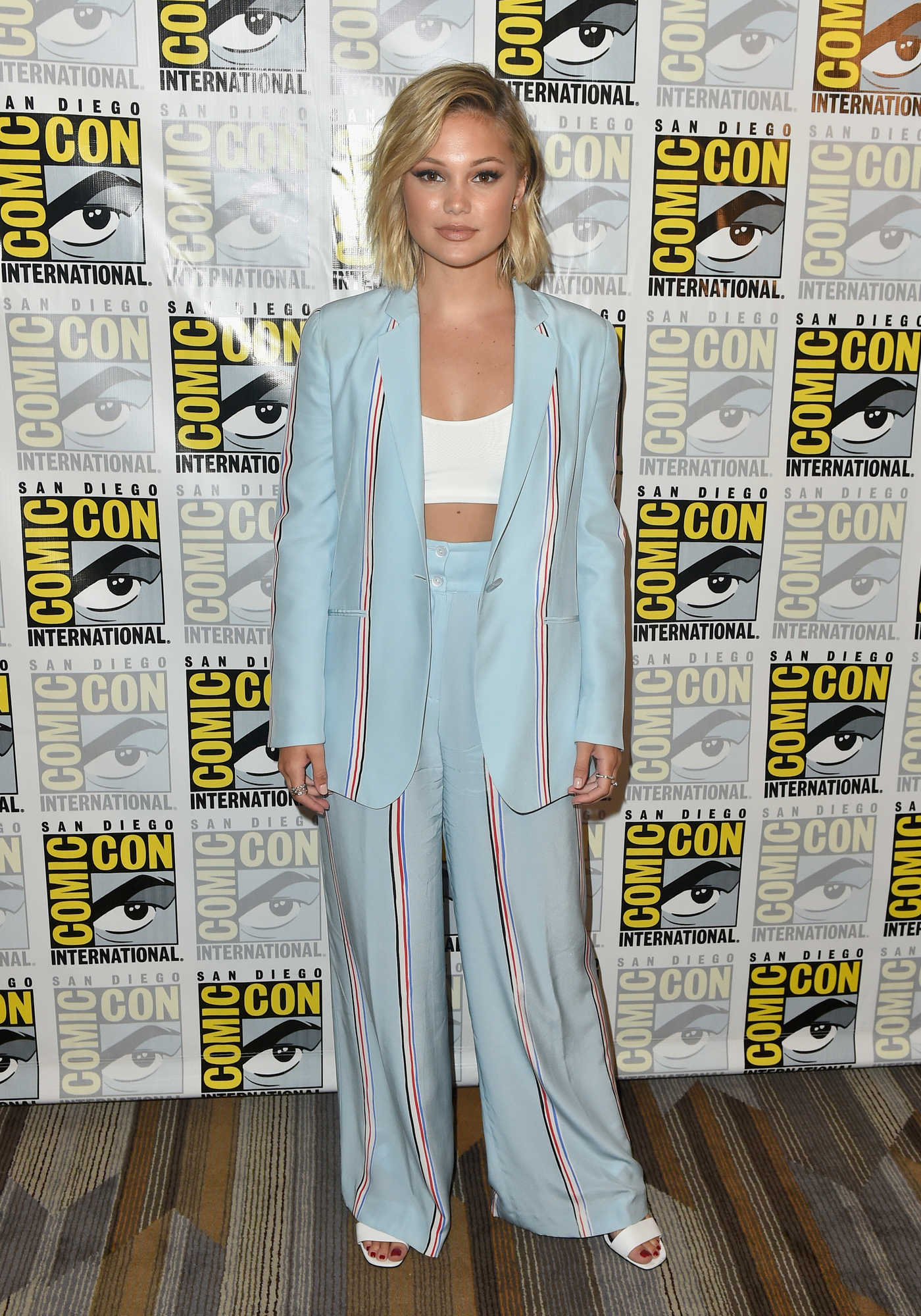 Olivia Holt at the Marvel's Cloak and Dagger Press Line During 2018 Comic-Con in San Diego 07/21/2018