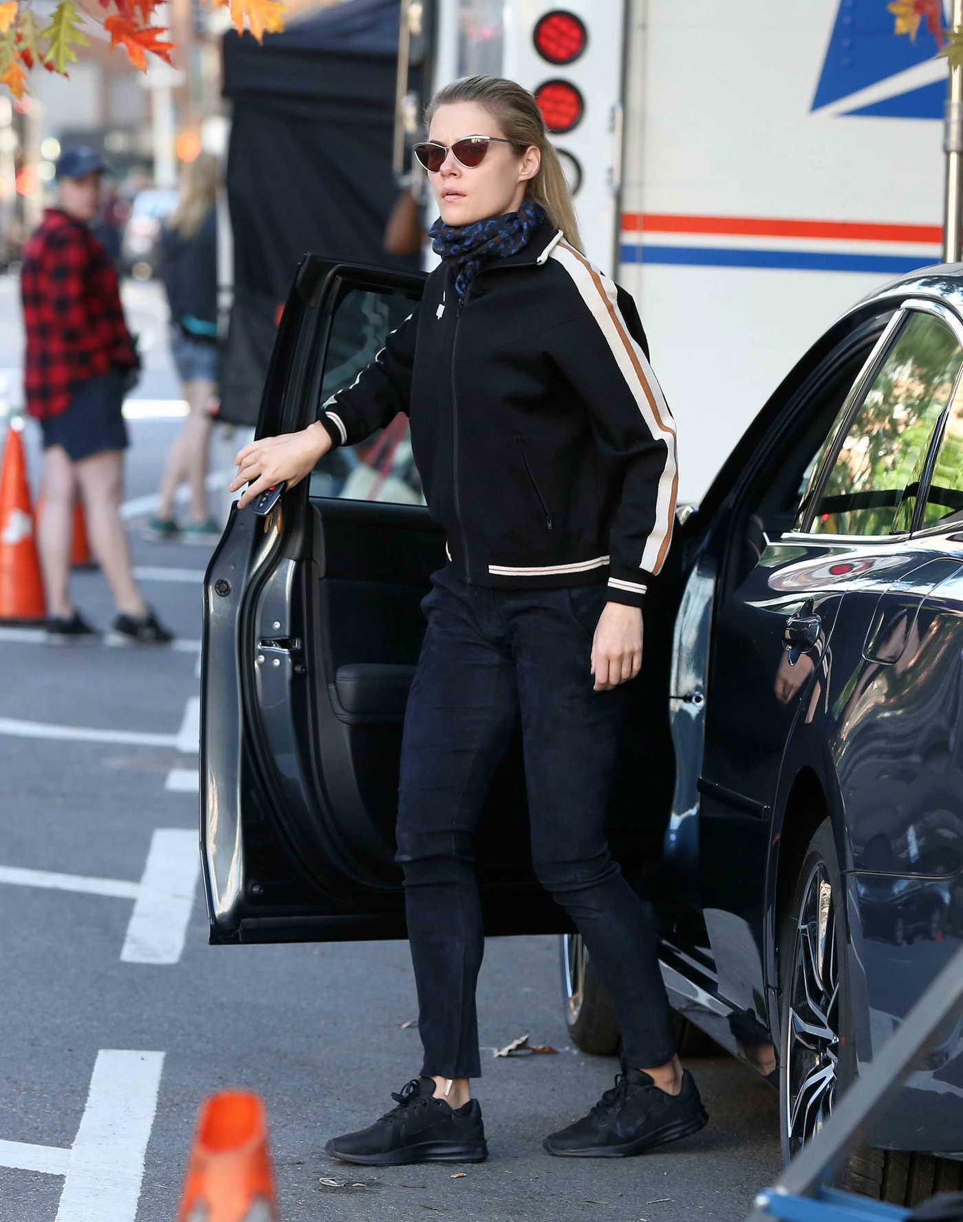Rachael Taylor on the Set of Jessica Jones TV Show Season 3 in New York City 07/09/2018