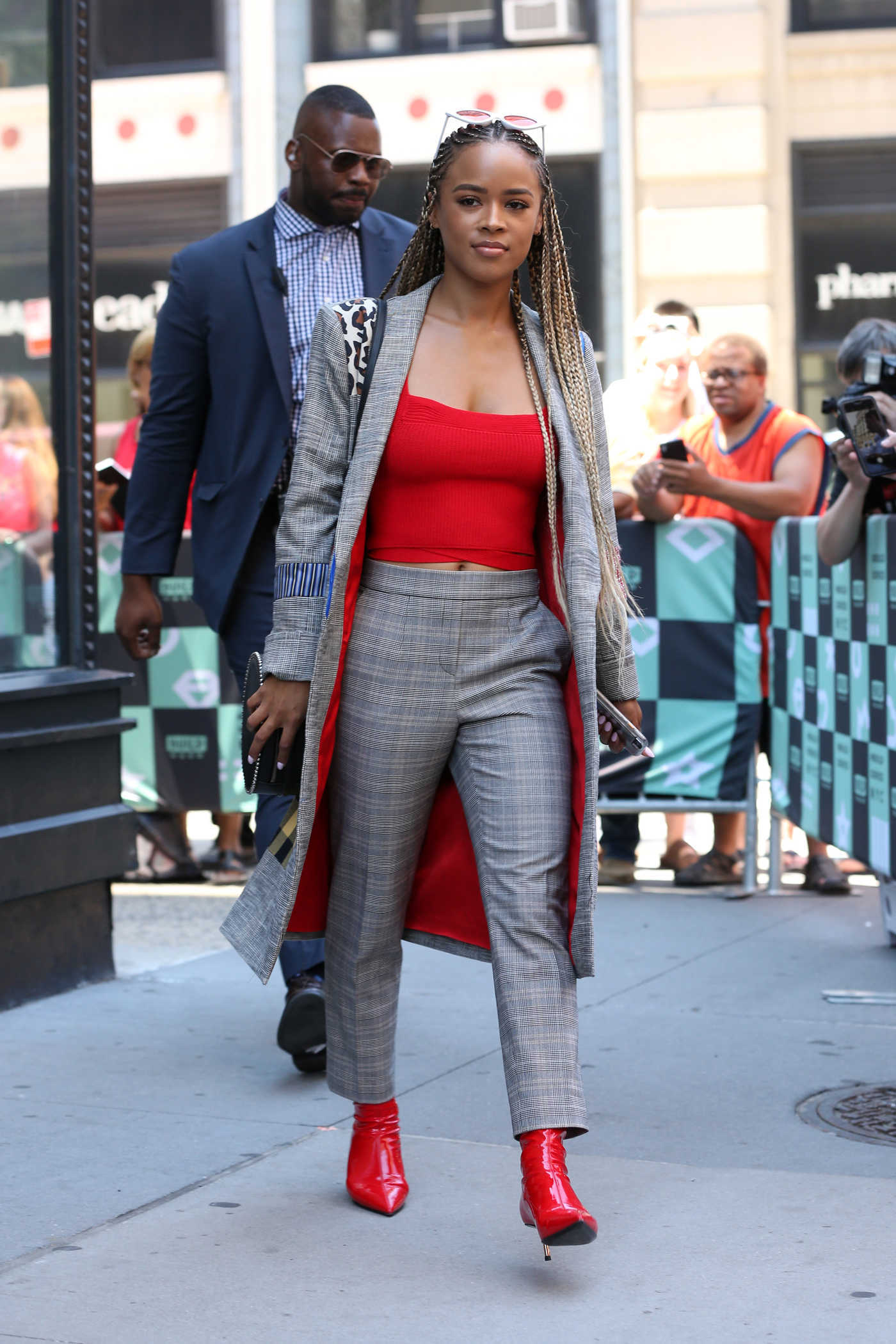 Serayah McNeill Leaves the AOL Build Series in New York City 07/09/2018